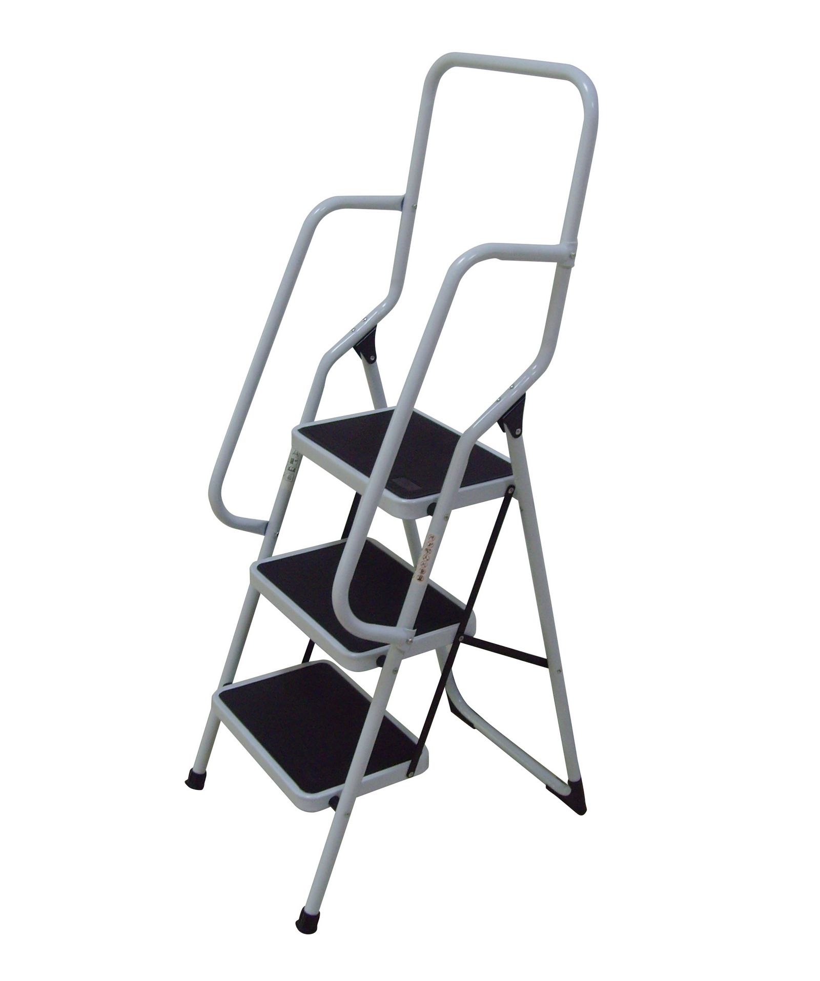 Foldable Non Slip 3 Step Steel Ladder Tread Stepladder