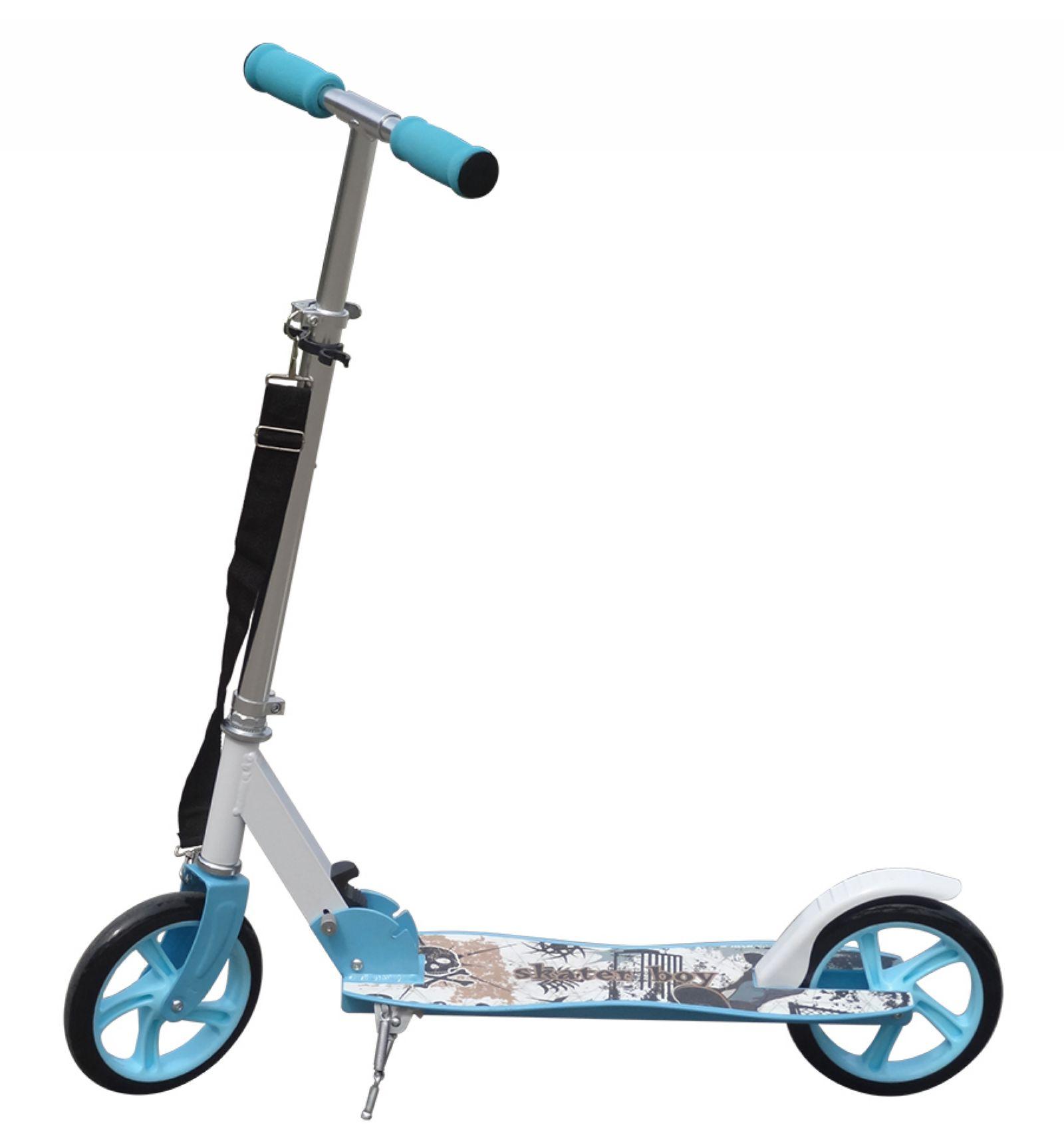 Sblue aluminium kids pro folding push urban kick scooter 2 for Big wheel motor scooter