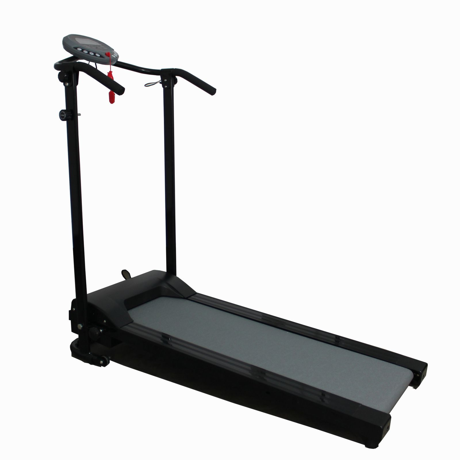 Black pro motorized electric treadmill running fitness for Best non motorized treadmill