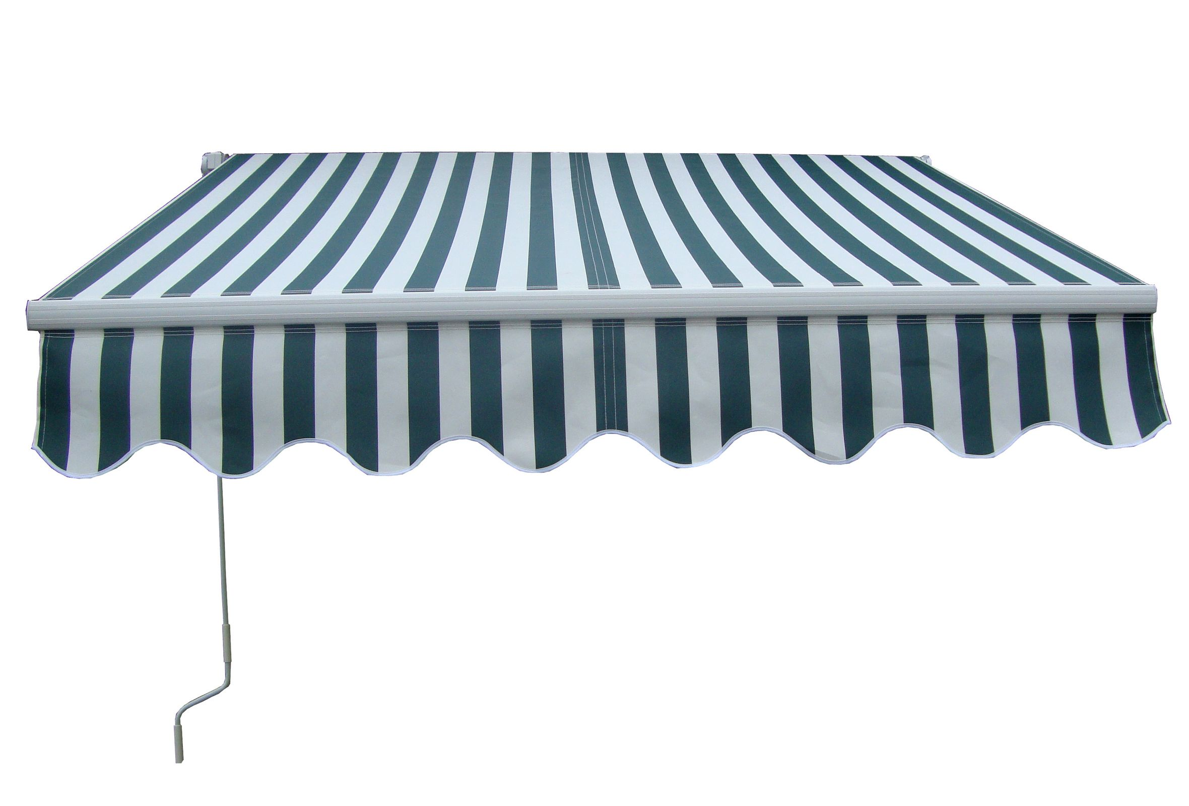 4mx3m manuel auvent r tractable garden patio canopy shade sun shelter grn blanc. Black Bedroom Furniture Sets. Home Design Ideas