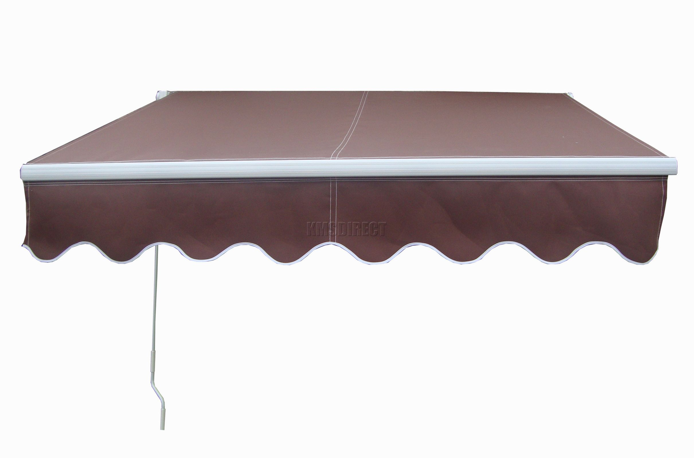 Patio manual retractable awning canopy sun shade shelter for Retractable patio awning canopy