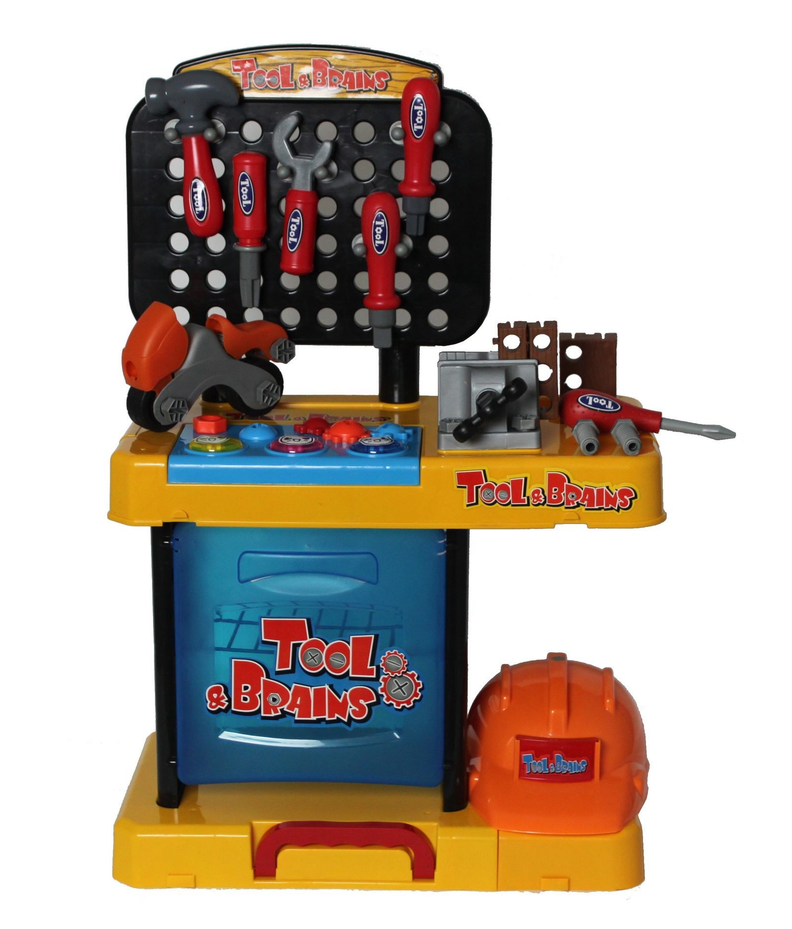 Toys For Work : Children kids boys pc tool drill kit work bench set role