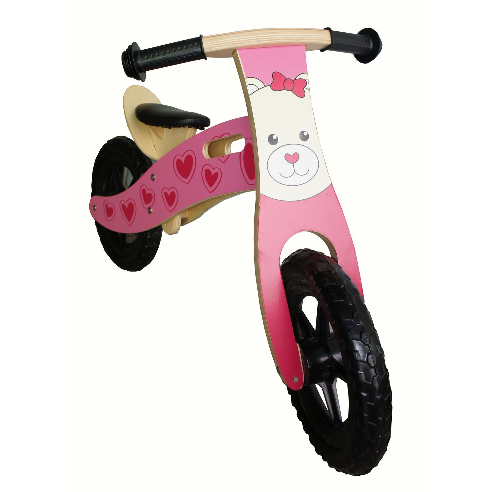 New Kids Wooden Balance Bike No Pedal First Running Training Learning Cycle Bear