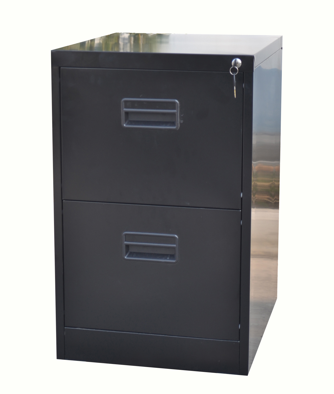 Home Office Filing Cabinet A4 File Storage Metal Steel Lockable Black 2 Drawer