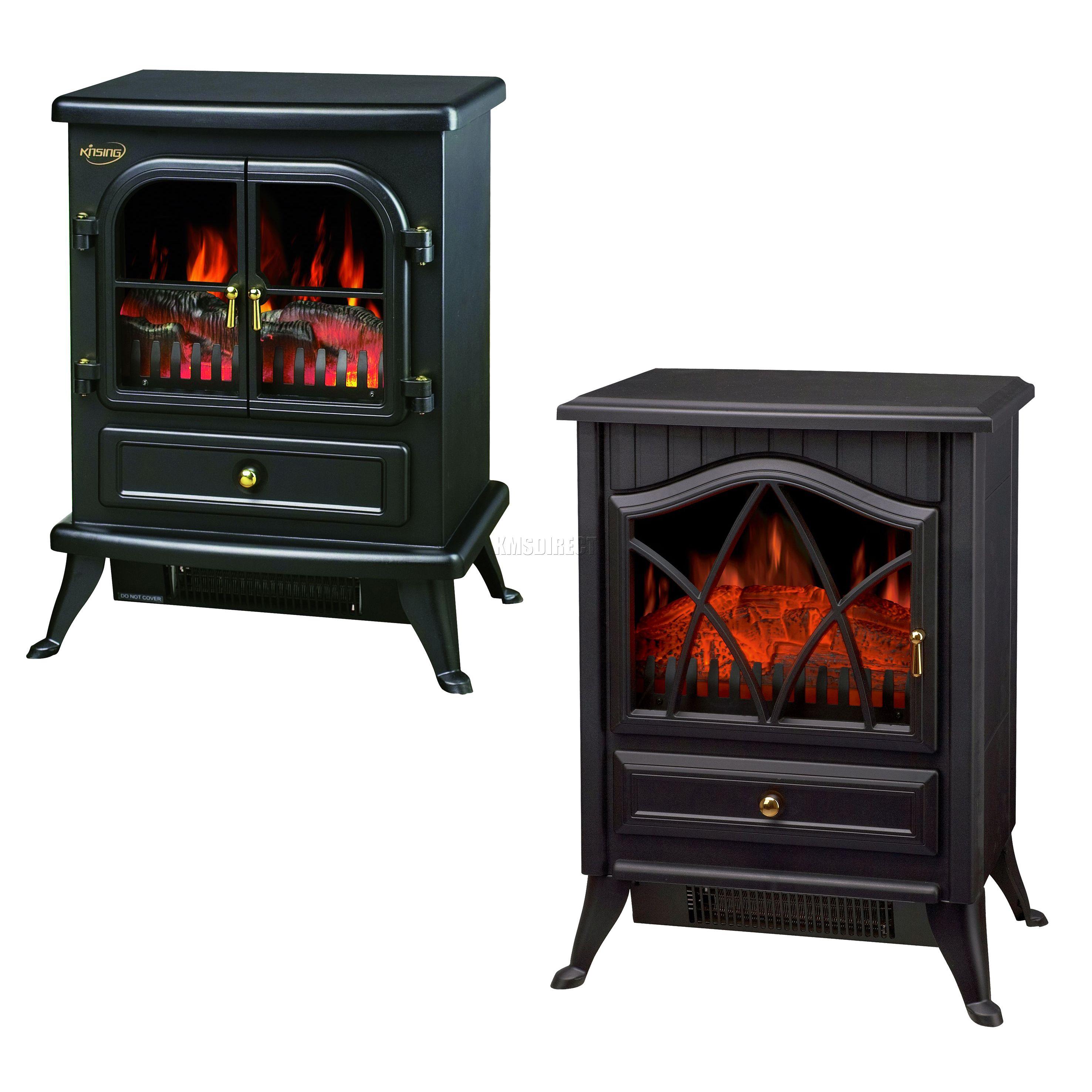 new 1850w log burning flame effect stove electric fire. Black Bedroom Furniture Sets. Home Design Ideas