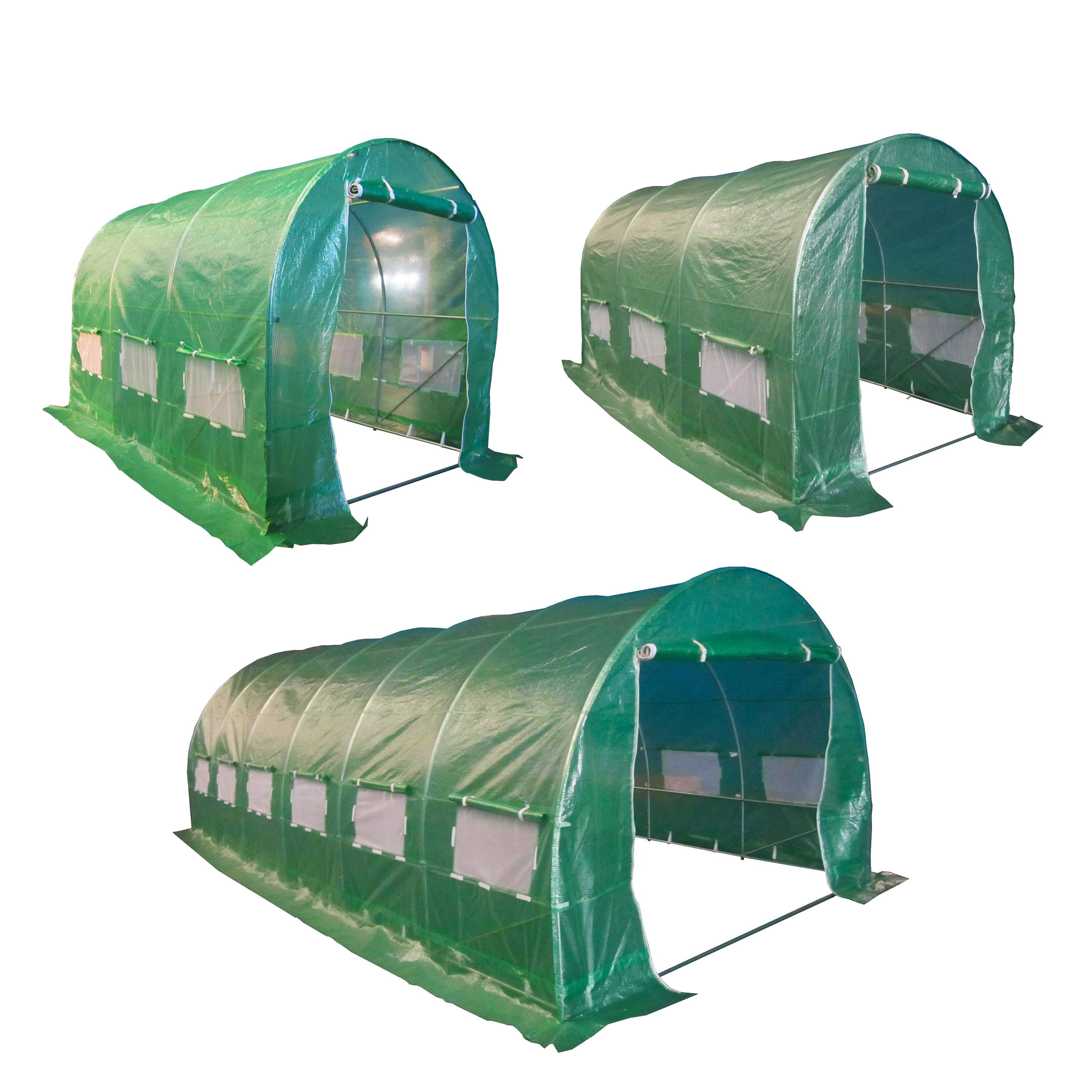 polytunnel gew chshaus pollytunnel polyester folientunnel abdeckung ersatzteil ebay. Black Bedroom Furniture Sets. Home Design Ideas
