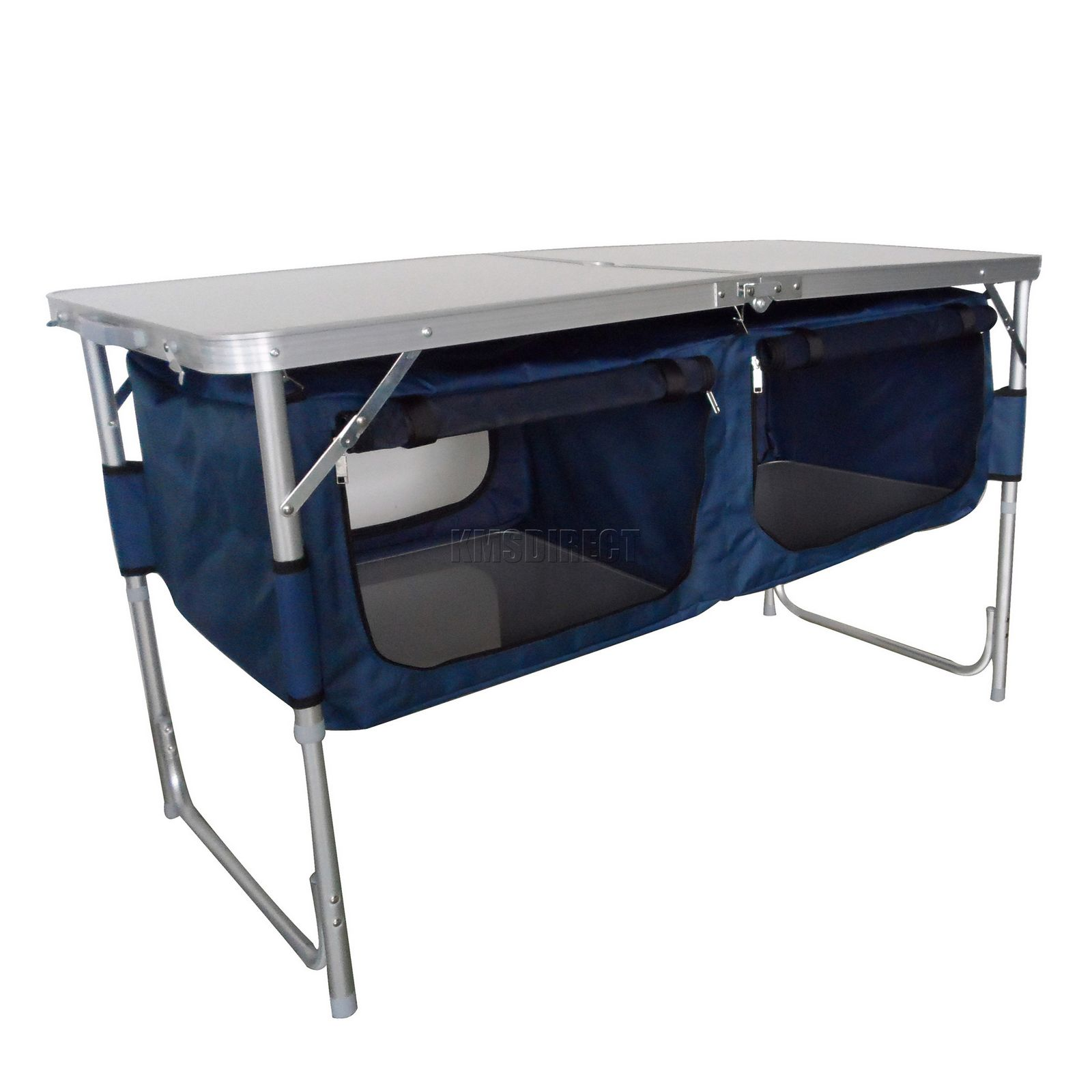 Folding Camping Kitchen Table Stand Picnic Cupboard Storage Portable ...