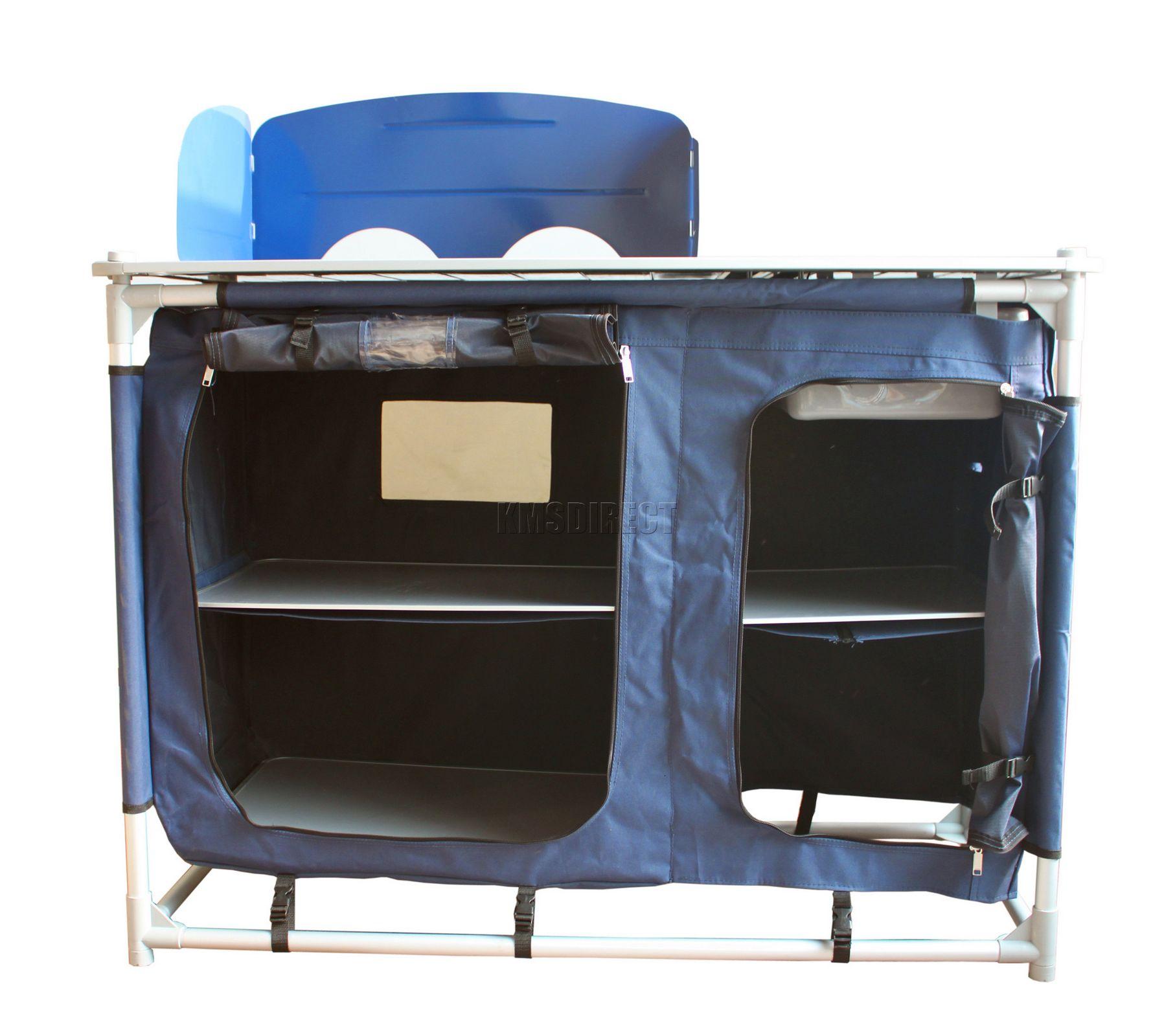 tisch camping k che gestell mit waschbecken aufbewahrung tragbar f r drau en ebay. Black Bedroom Furniture Sets. Home Design Ideas
