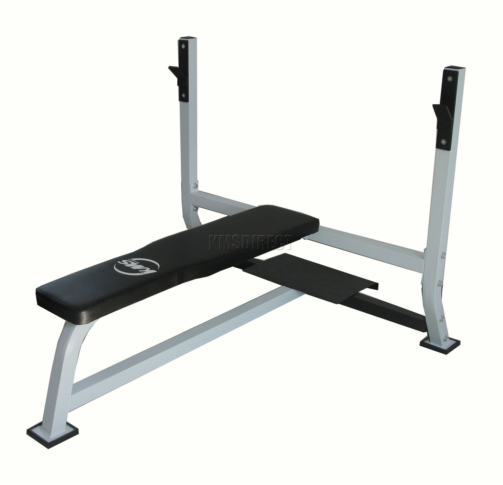 Home Gym Flat Barbell Bench For 7ft Olympic Standard Weight Bar Chest Press Ebay