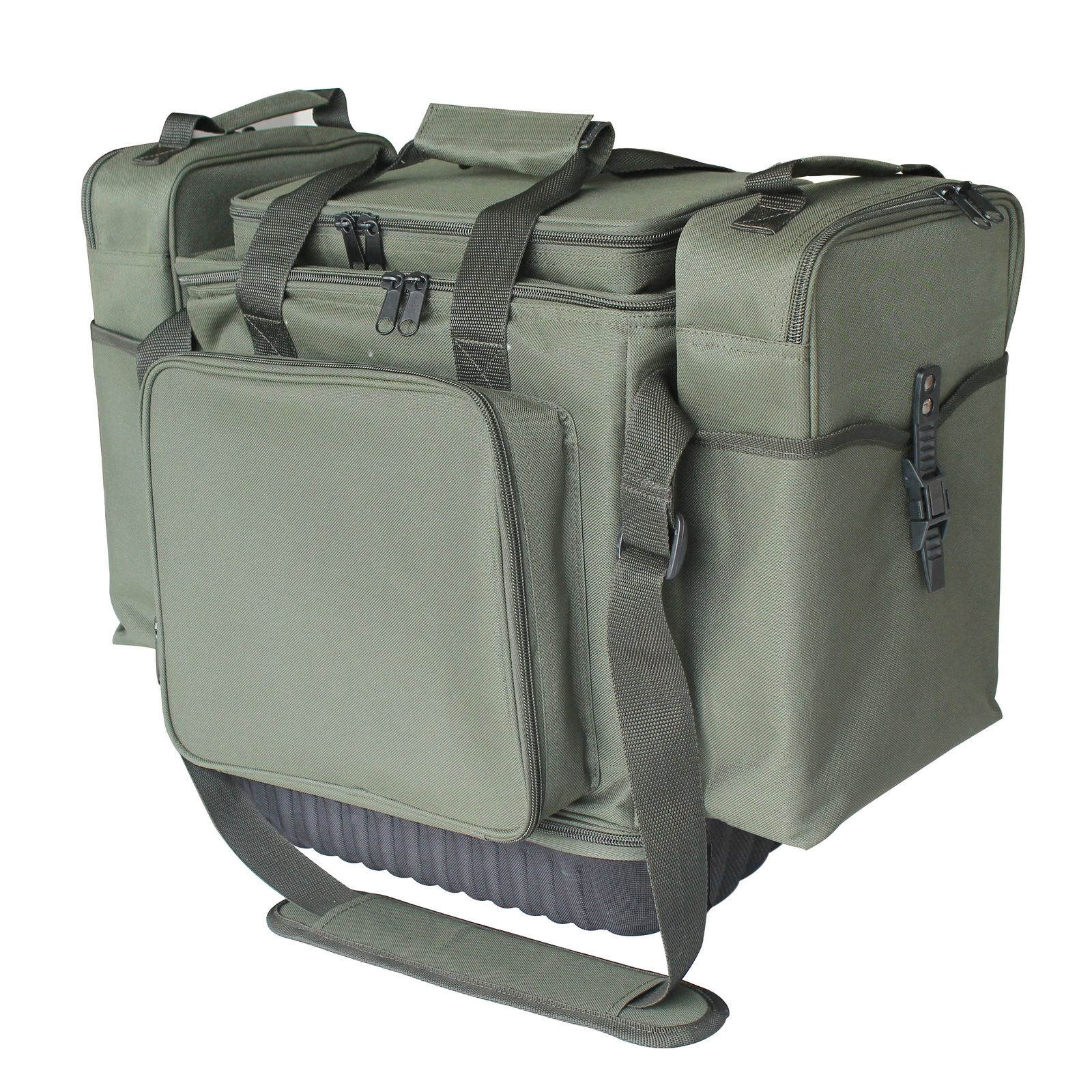 Foxhunter carp fishing integrated tackle rig box wallet for Rigged fishing backpack