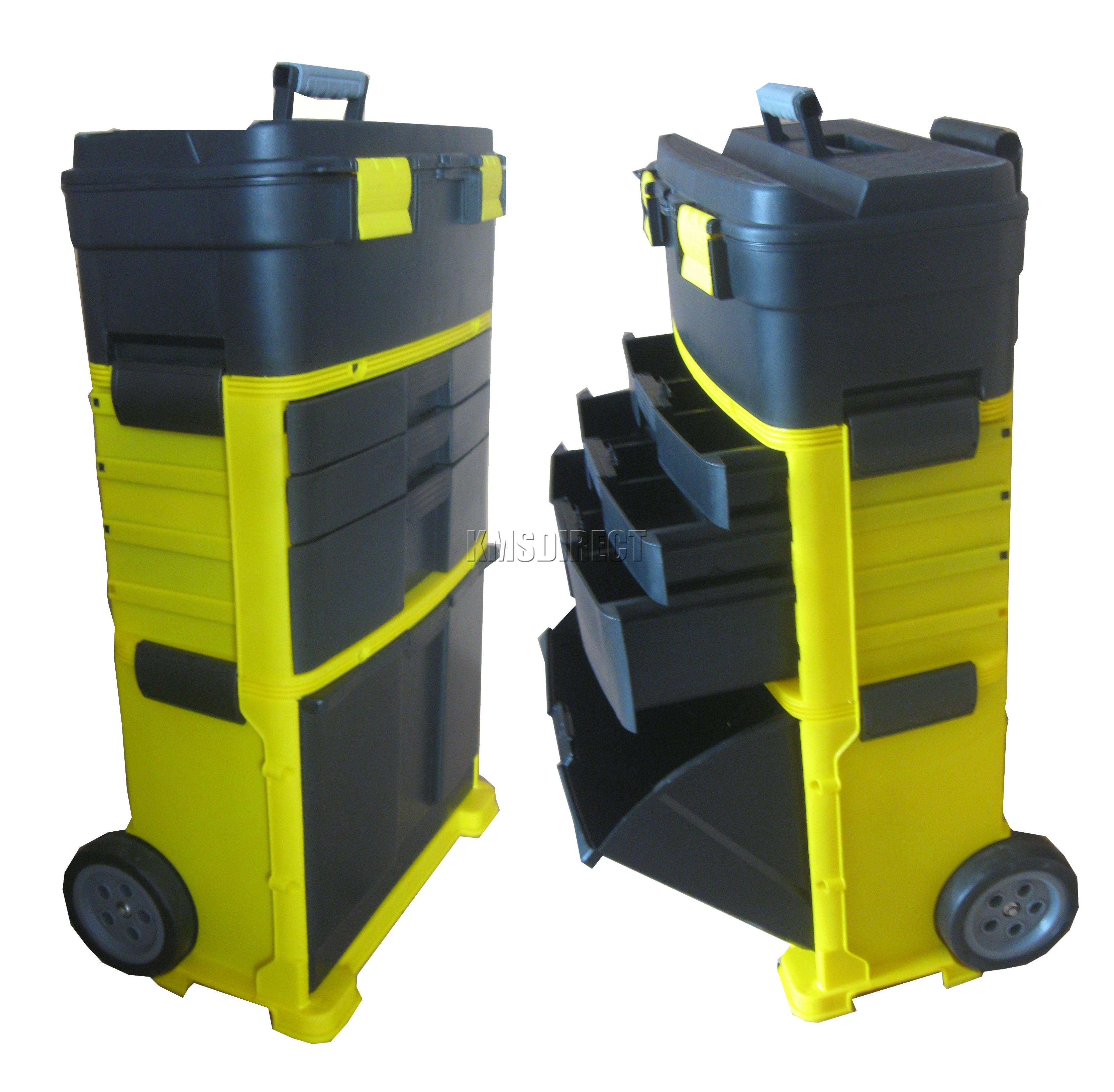 Foxhunter Mobile Roller Workshop Chest Trolley Storage