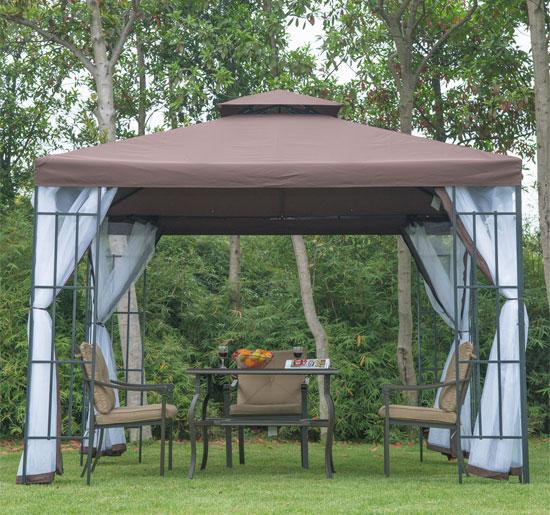 foxhunter partyzelt 3m x 3m garten pavillon terrasse gartenlaube markise ebay. Black Bedroom Furniture Sets. Home Design Ideas