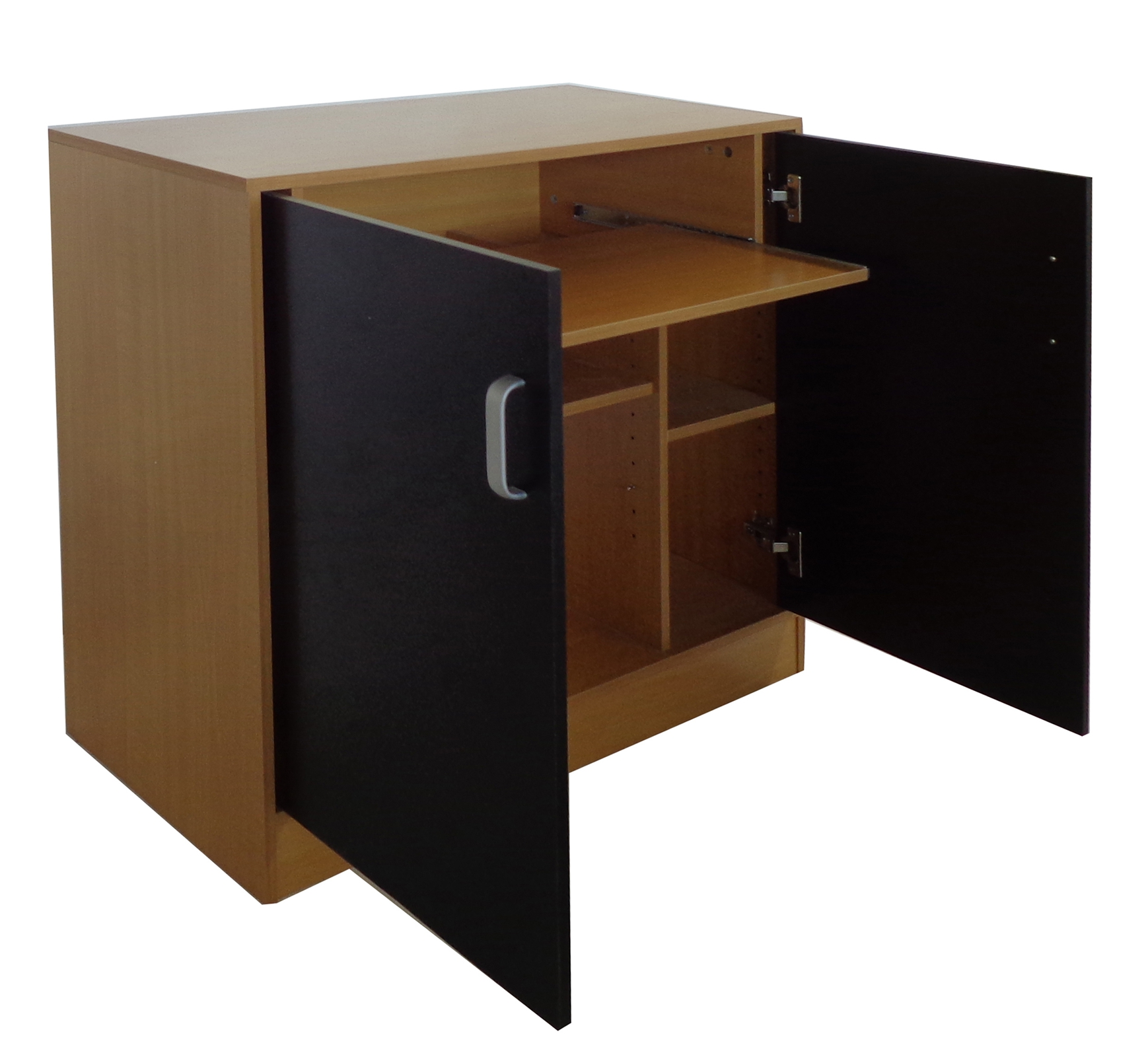 FoxHunter Black PC Computer Desk Table Home Office