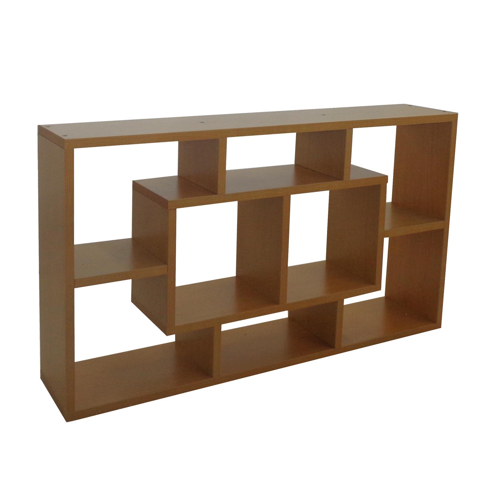 FoxHunter Beech Wood Decor Shelf Display Storage Unit