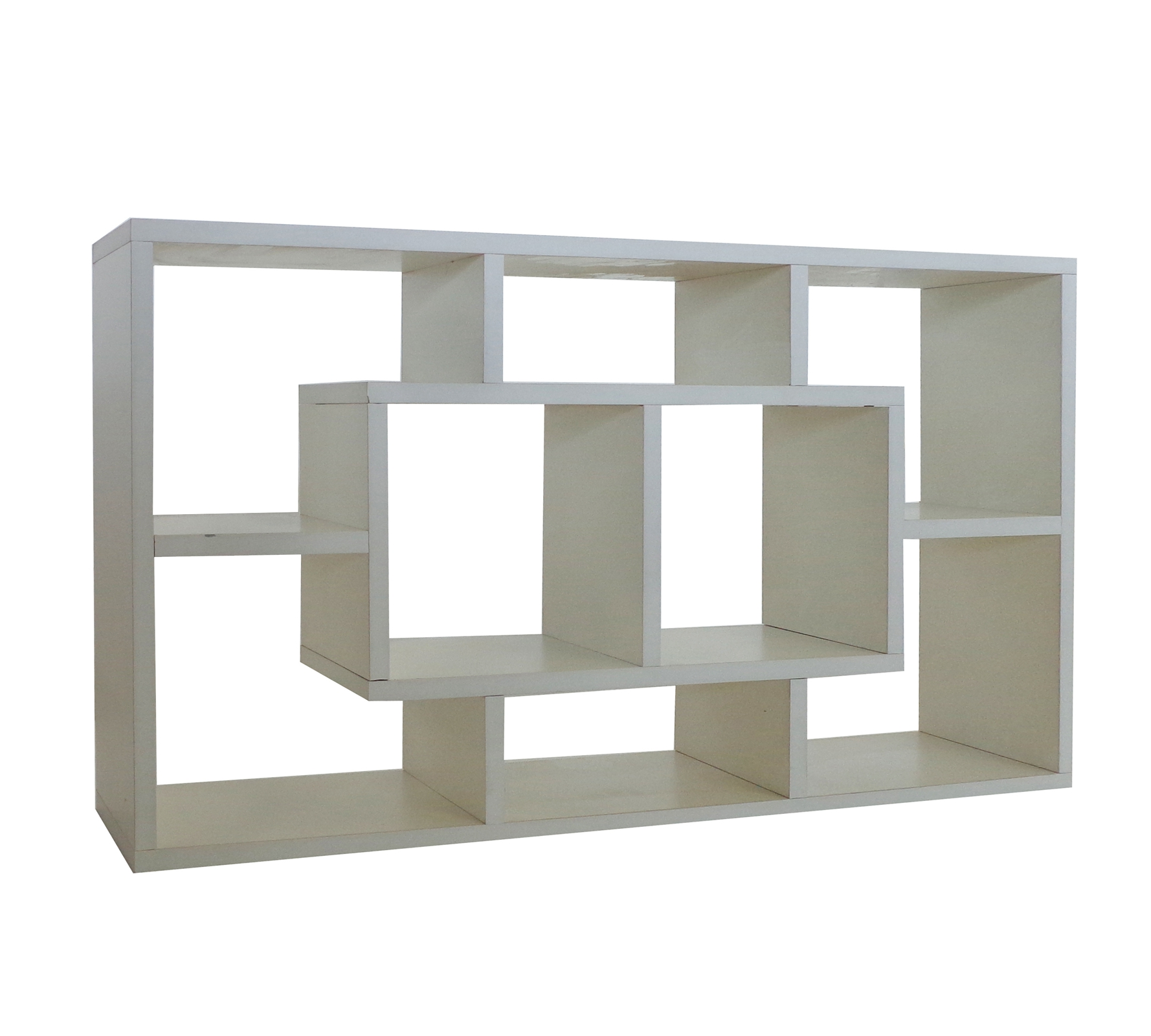 Superb img of FoxHunter White Wood Decor Shelf Display Storage Unit Shelving Shelves  with #736A51 color and 1778x1600 pixels
