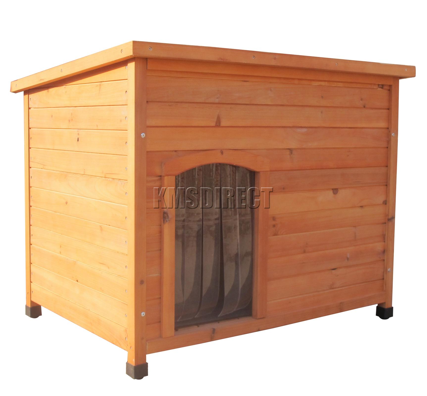 foxhunter hundeh tte medium haus holz hund welpen k fig f r drau en neu ebay. Black Bedroom Furniture Sets. Home Design Ideas