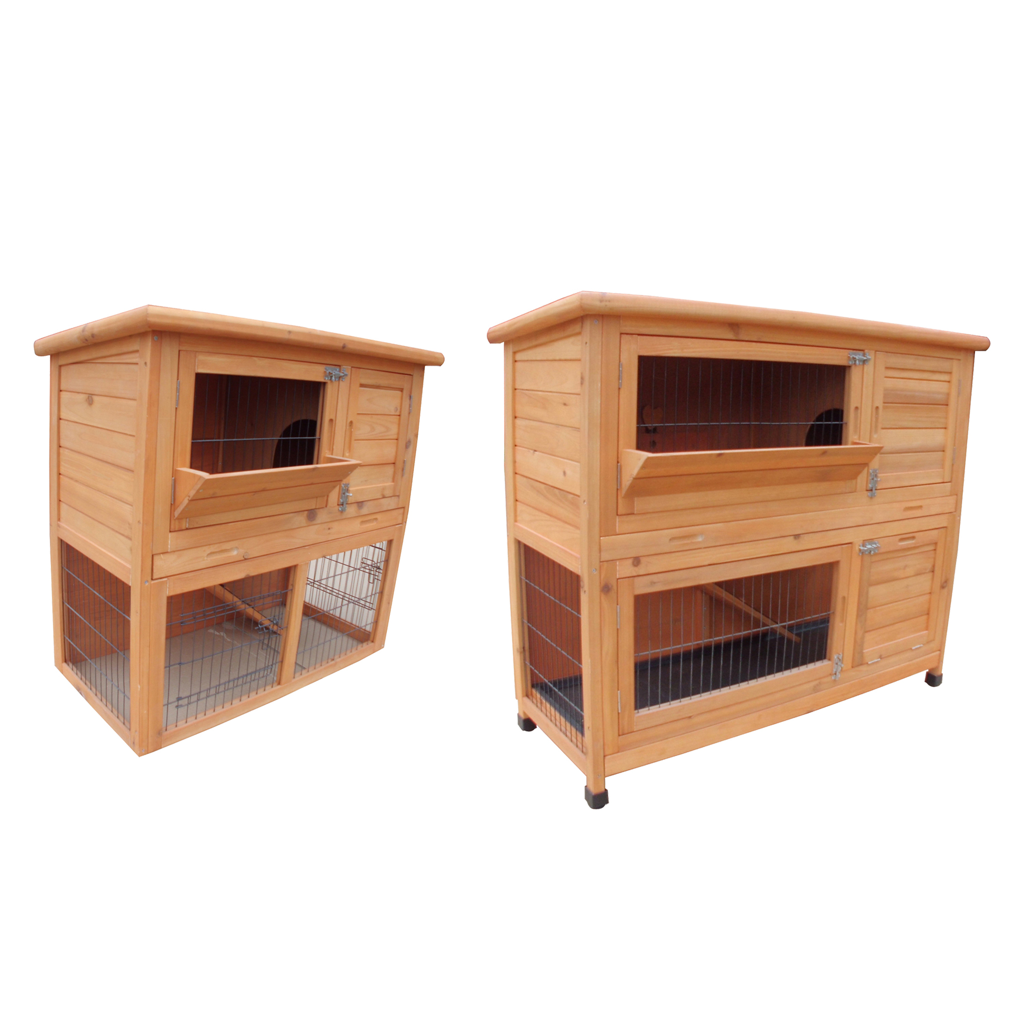 Foxhunter Wooden Guinea Pig Rabbit Hutch Wood Pet Run