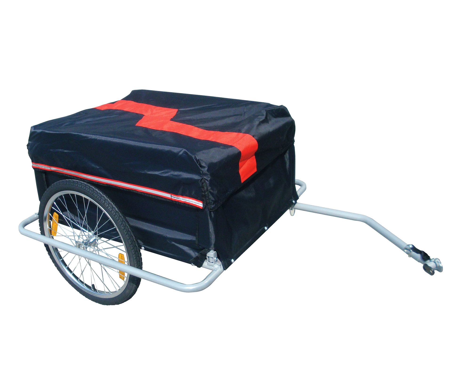 FoxHunter Red Black Folded Luggage Cargo Bike Bicycle Cycle Trailer Carrier New