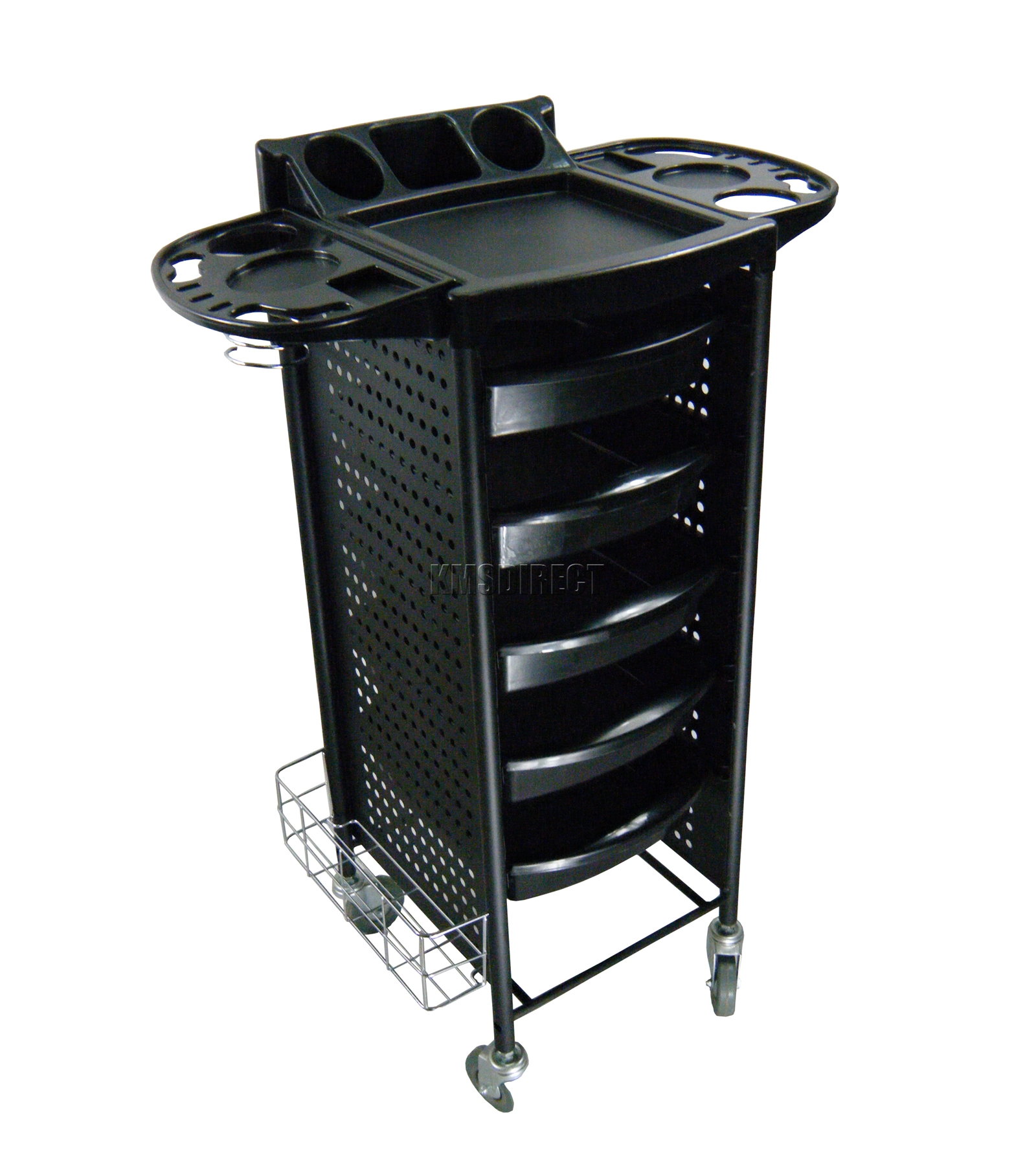 Foxhunter 5 drawers trolley storage hair beauty for Salon trolley