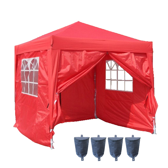 foxhunter pavillion rot pop up gartenlaube wasserfest 2 5. Black Bedroom Furniture Sets. Home Design Ideas