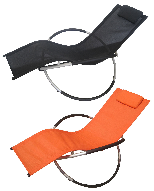 Foxhunter garden folding zero gravity recliner rocking - Rocking chair jardin ...