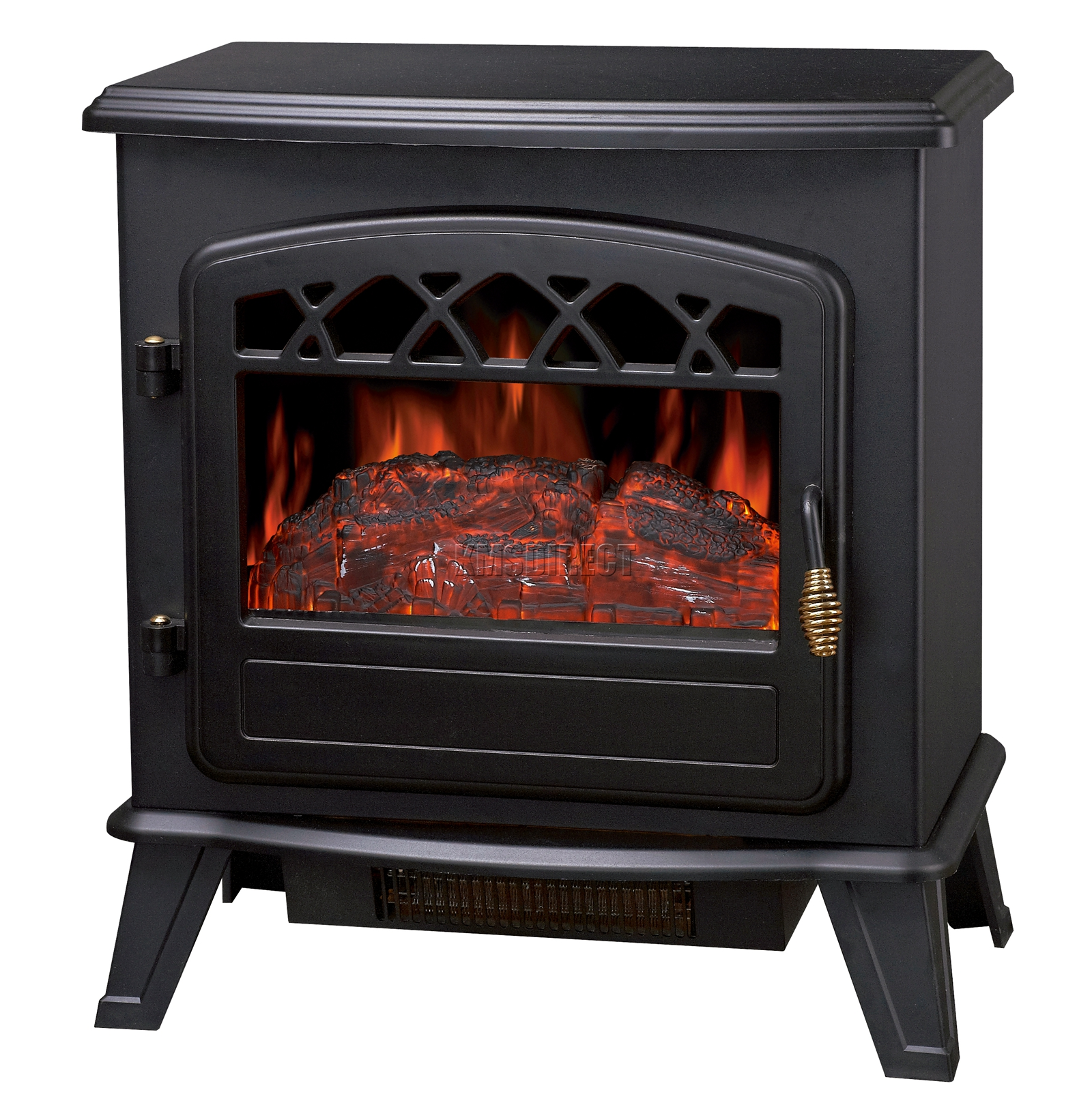 Foxhunter log burning effect electric fire stove heater for Estufas electricas bajo consumo