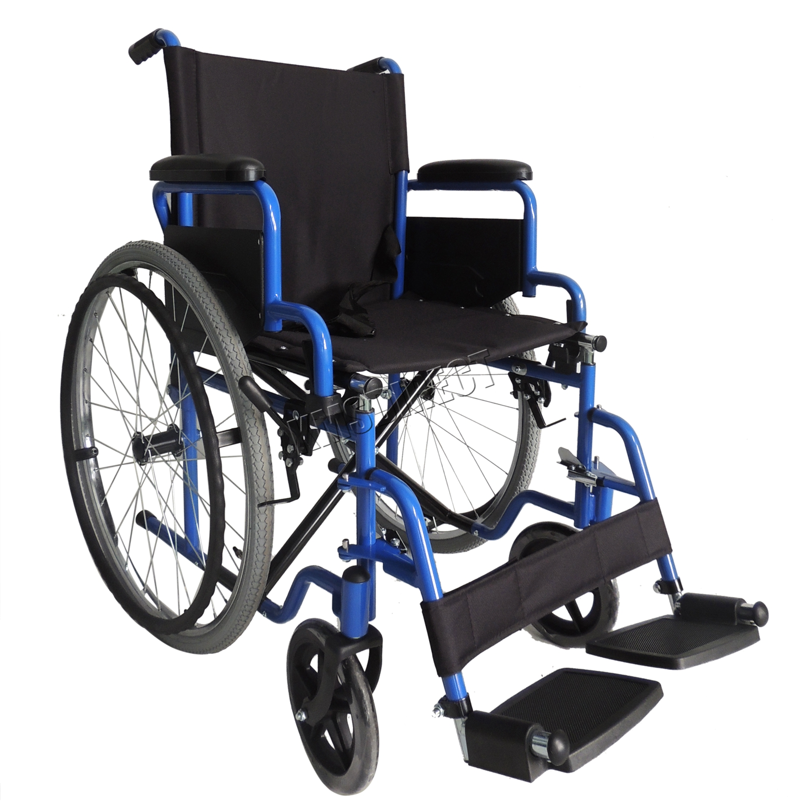 foxhunter automoteur pliant l 233 ger fauteuil roulant de transfert accoudoir bleu ebay