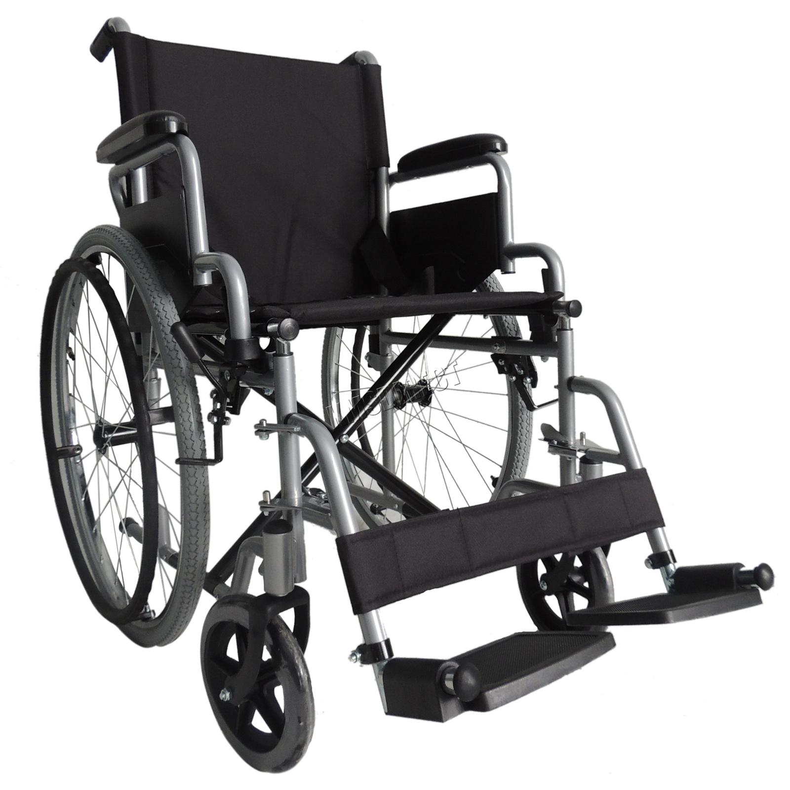 Foxhunter argento semovente pieghevole leggero sedia a for Sedia a rotelle automatica