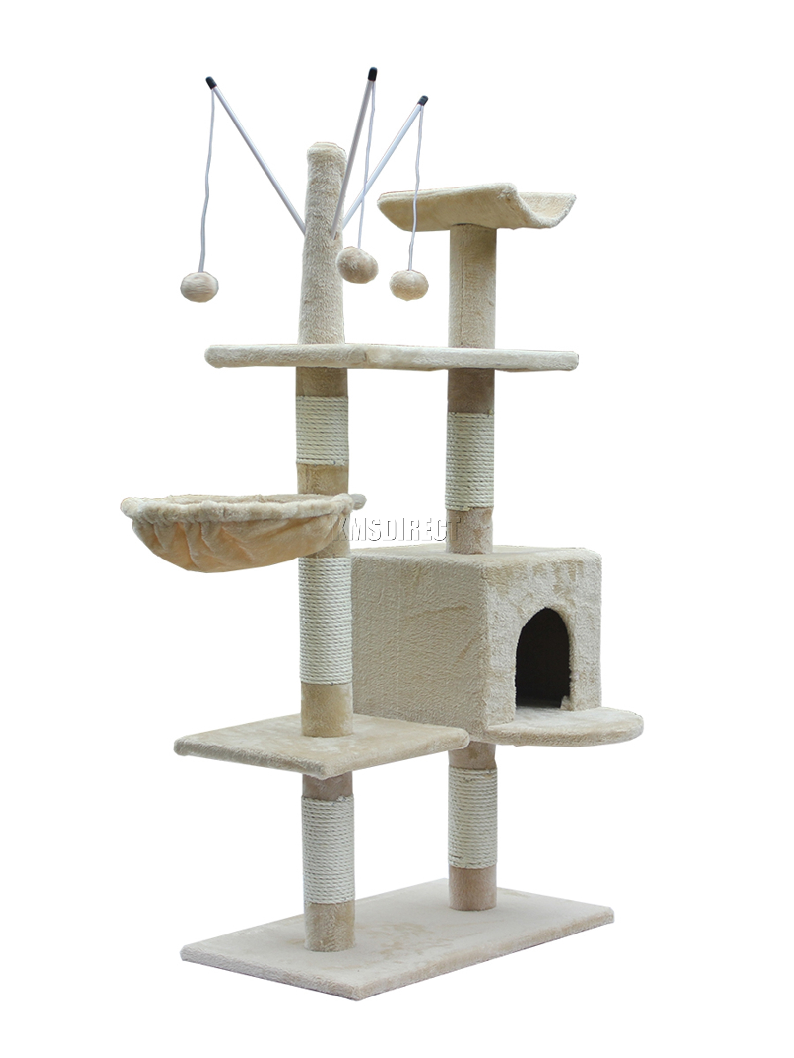 Cat Scratching Post with Mouse Toy, by Fluffy Paws 24.5 Cat Scratching Post Pet Scratcher Kitten Kitty Toy with Mouse Toy, Brown
