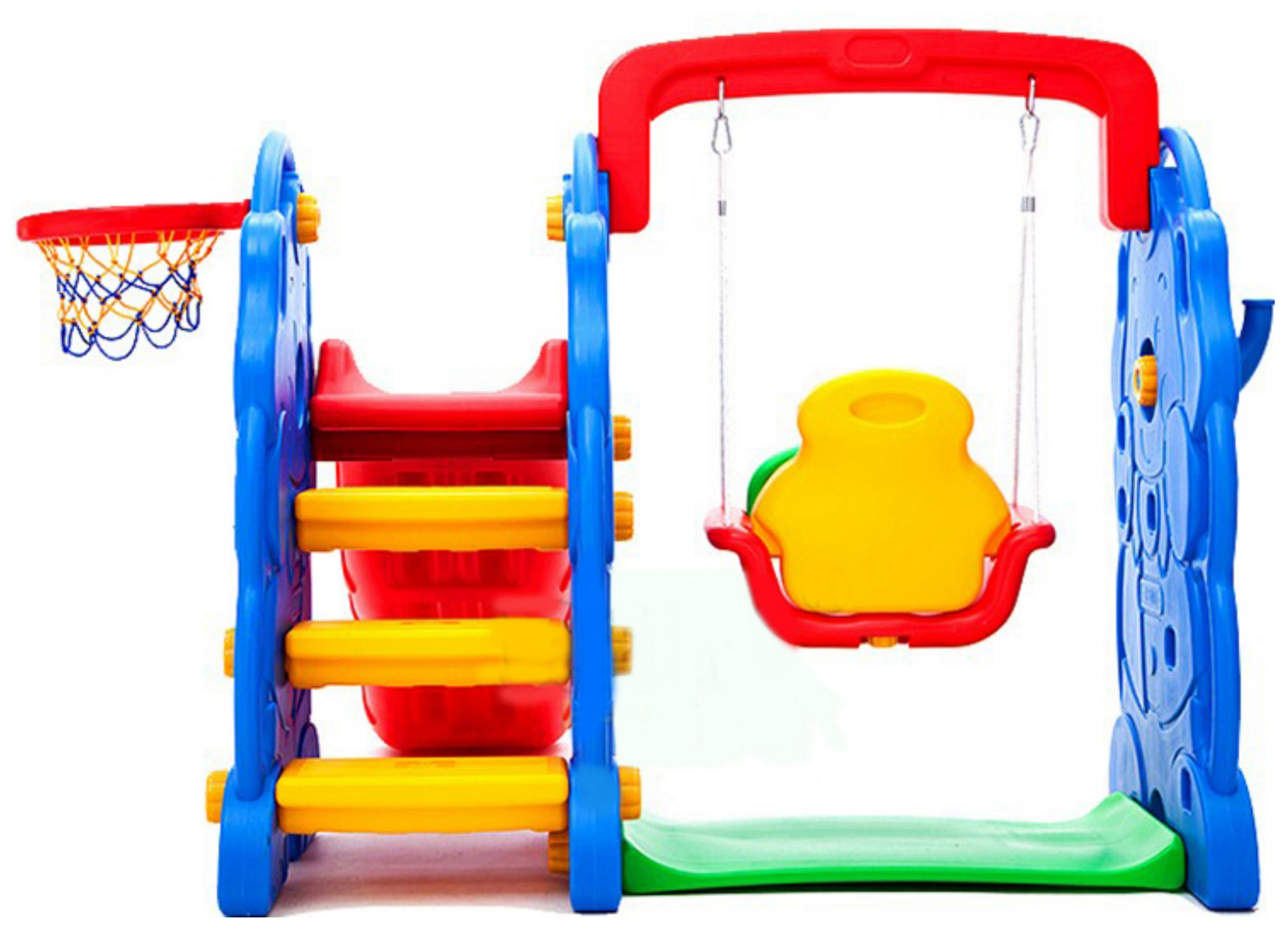 FoxHunter Children Kids Swing Slide Basketball Hoop Climbing Frame