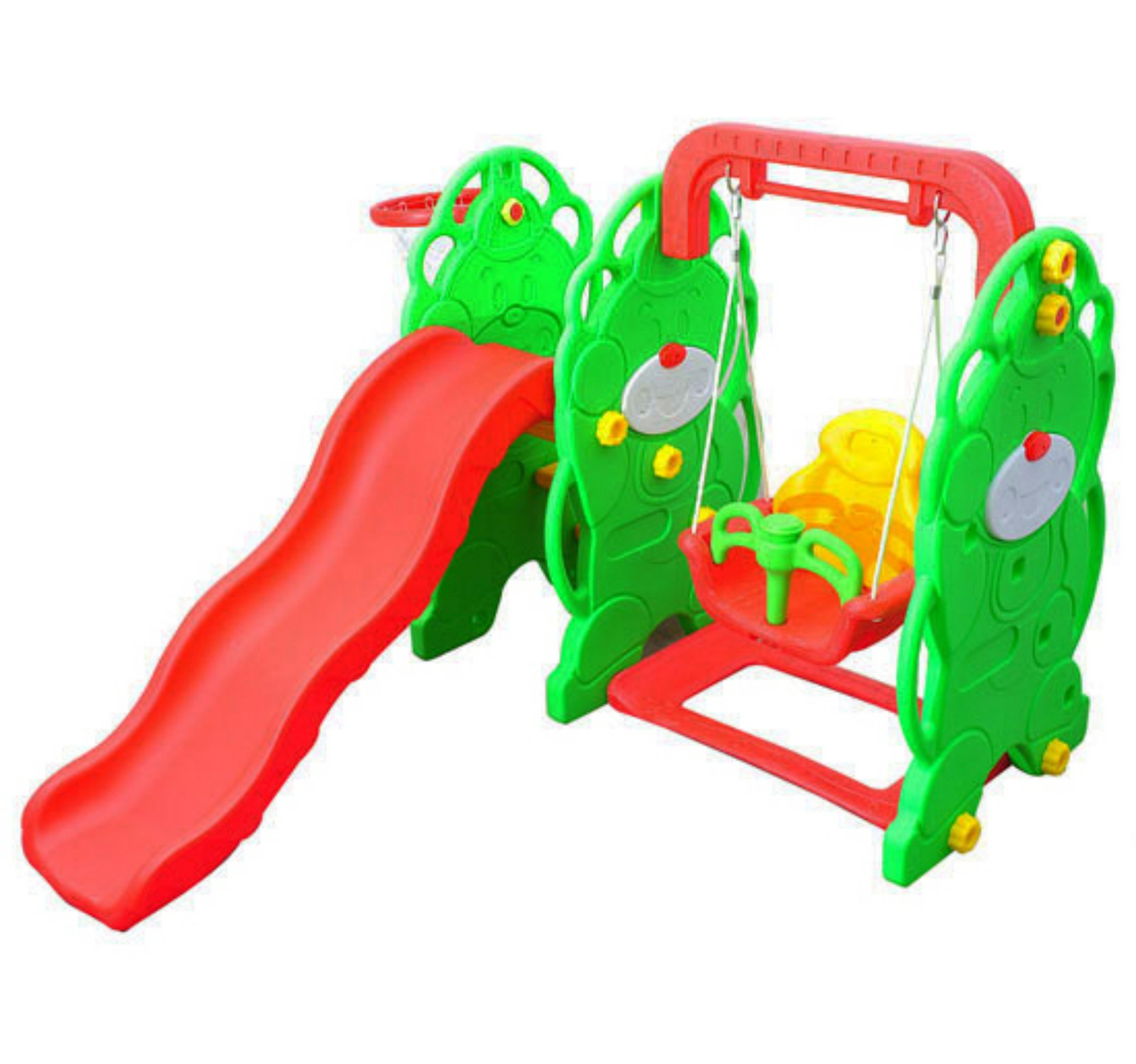 FoxHunter Children Kids Playground Swing Slide Basketball Hoop
