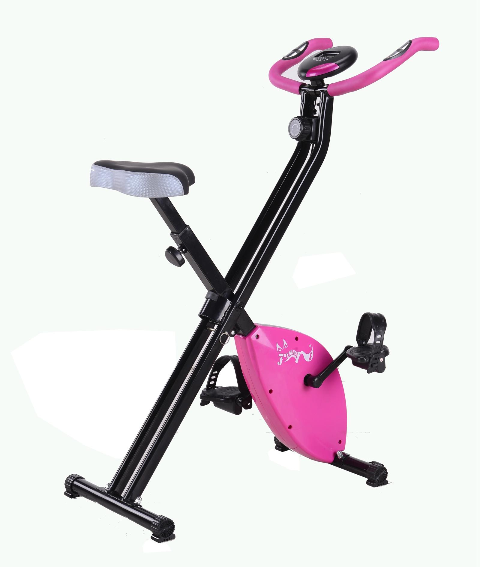 foxhunter roseo v lo d 39 exercice pliable magn tique bicyclette en forme x cardio ebay. Black Bedroom Furniture Sets. Home Design Ideas