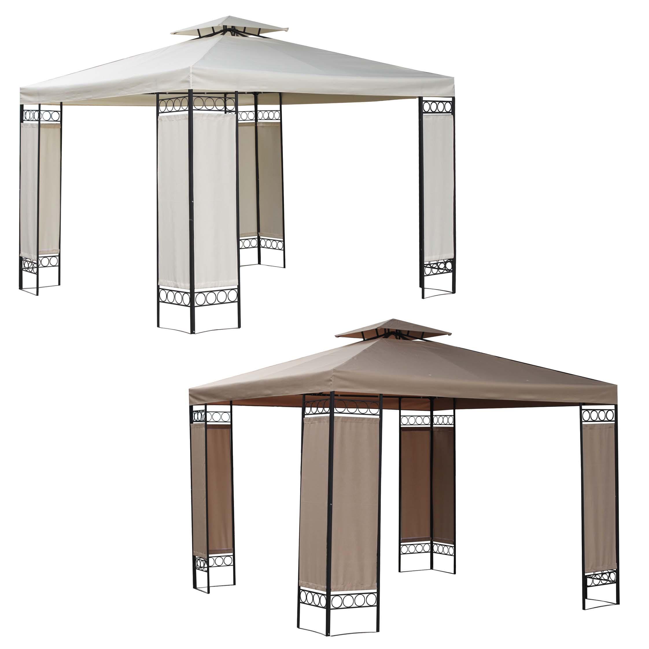 foxhunter 3m x 3m x 2 6 m garten pavillon gartenlaube schlupf terrasse ebay. Black Bedroom Furniture Sets. Home Design Ideas