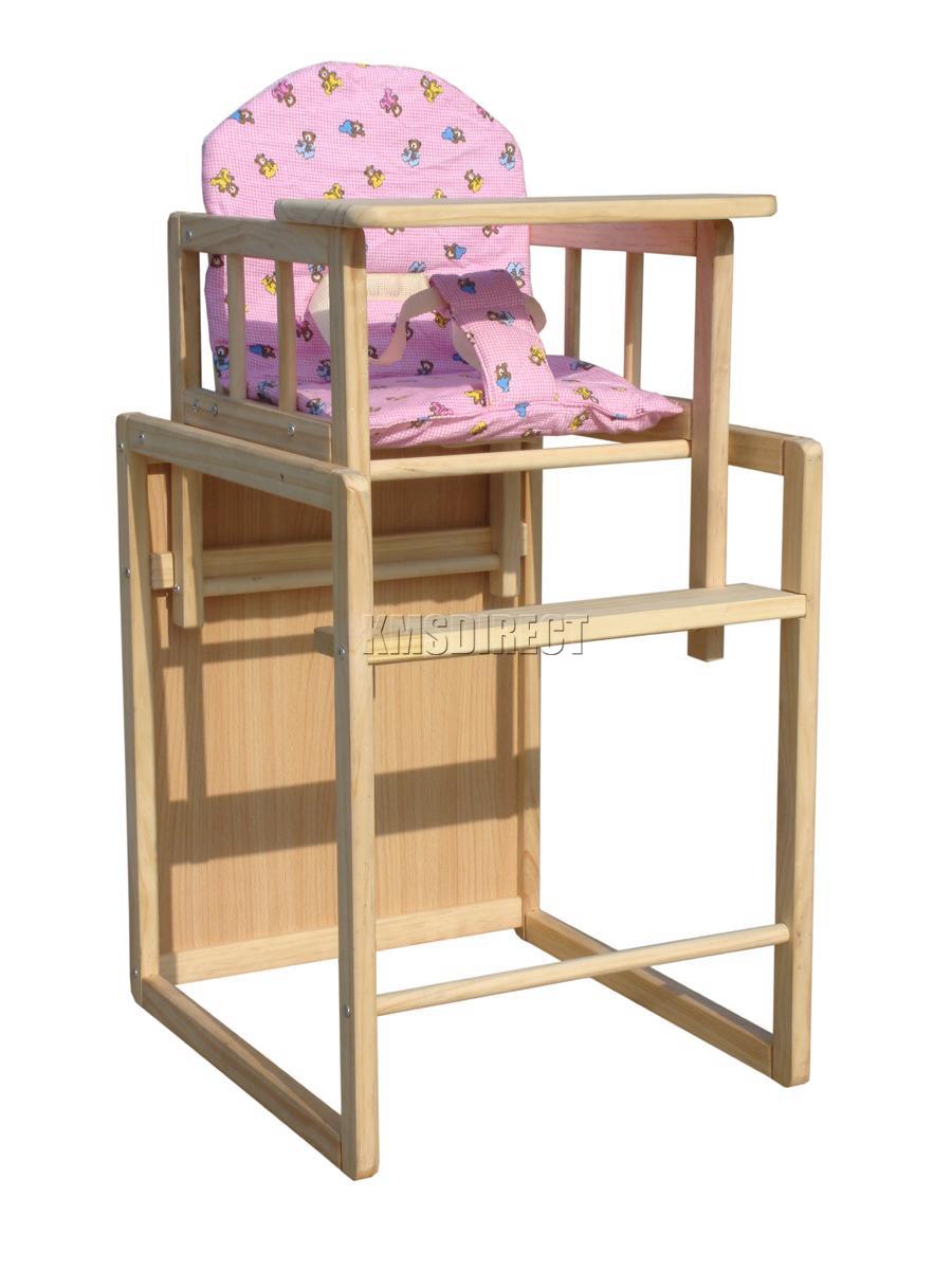FoxHunter Pink Baby High Chair Highchair Feeding Seat