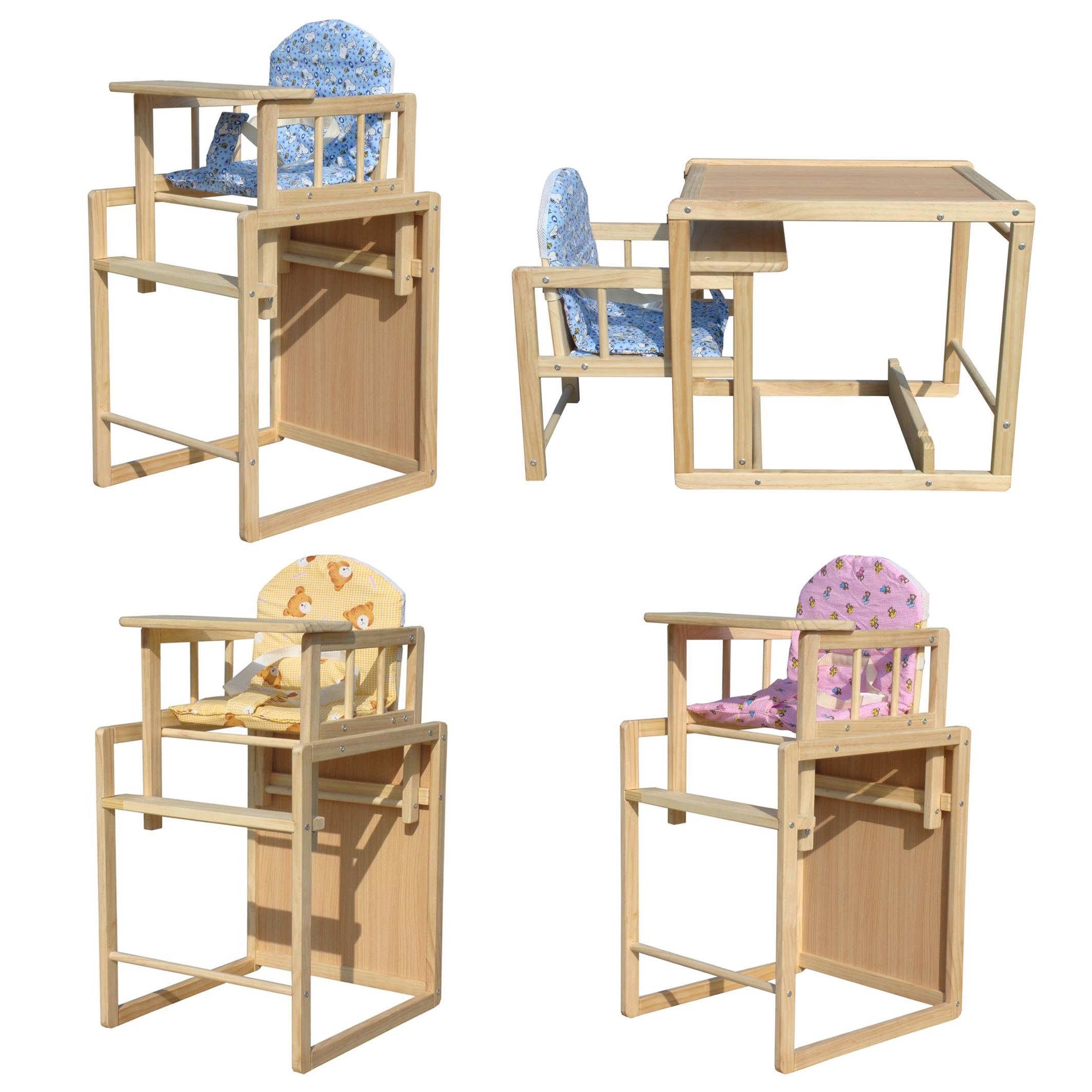 Foxhunter wooden baby high chair highchair feeding seat