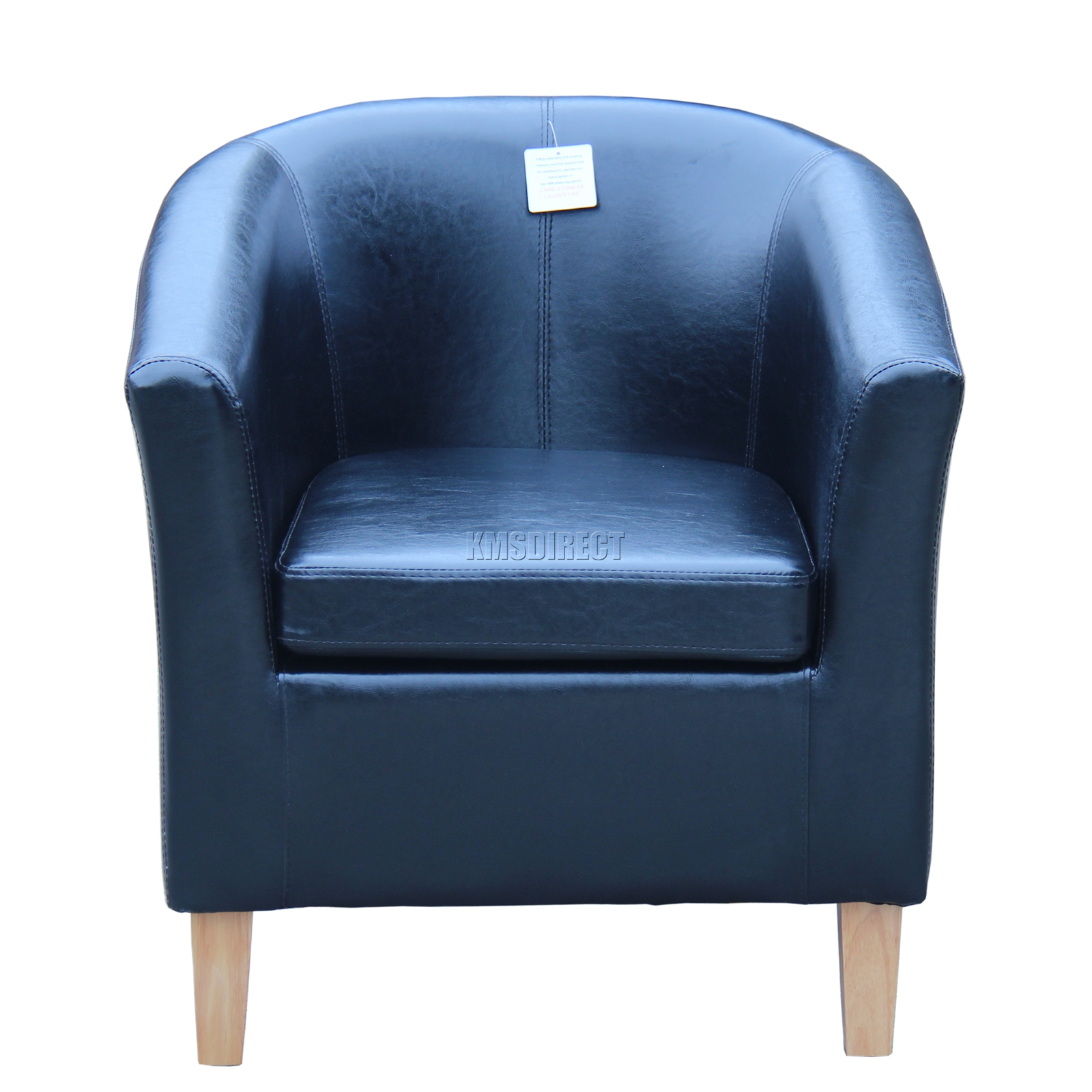 faux leather tub chair armchair dining room lounge furniture black new