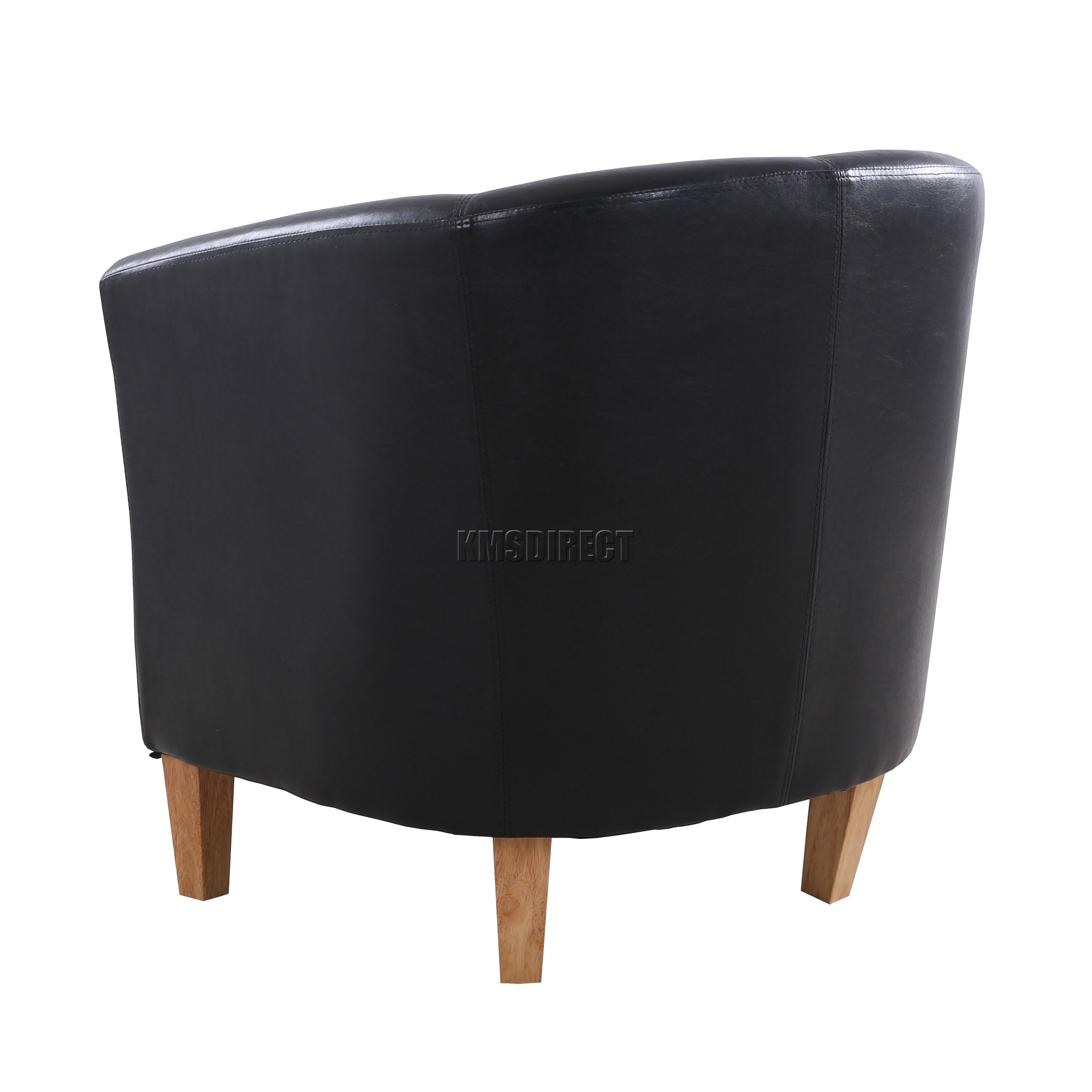 black faux leather tub chair armchair dining room lounge furniture new
