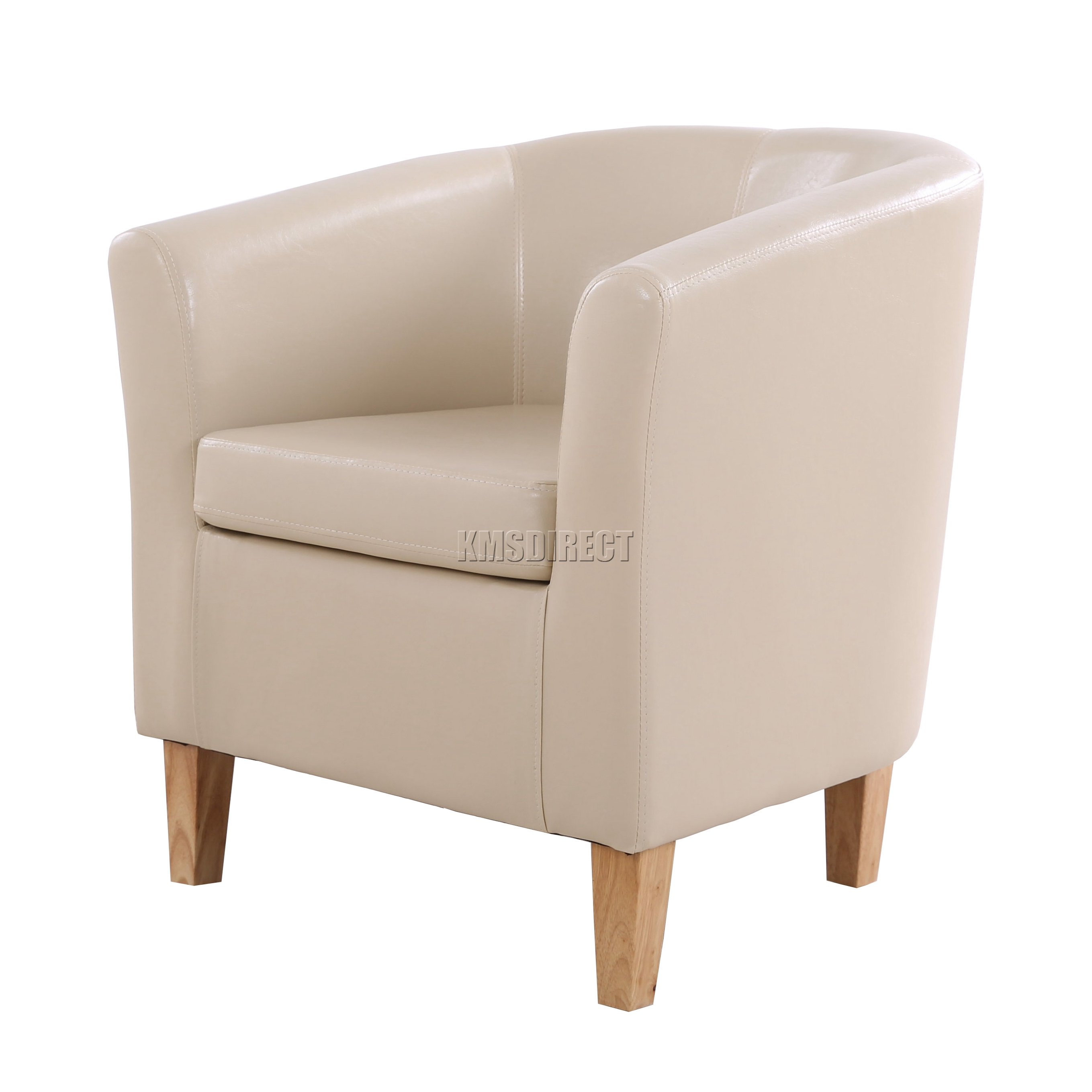 ivory faux leather tub chair armchair dining room lounge furniture new
