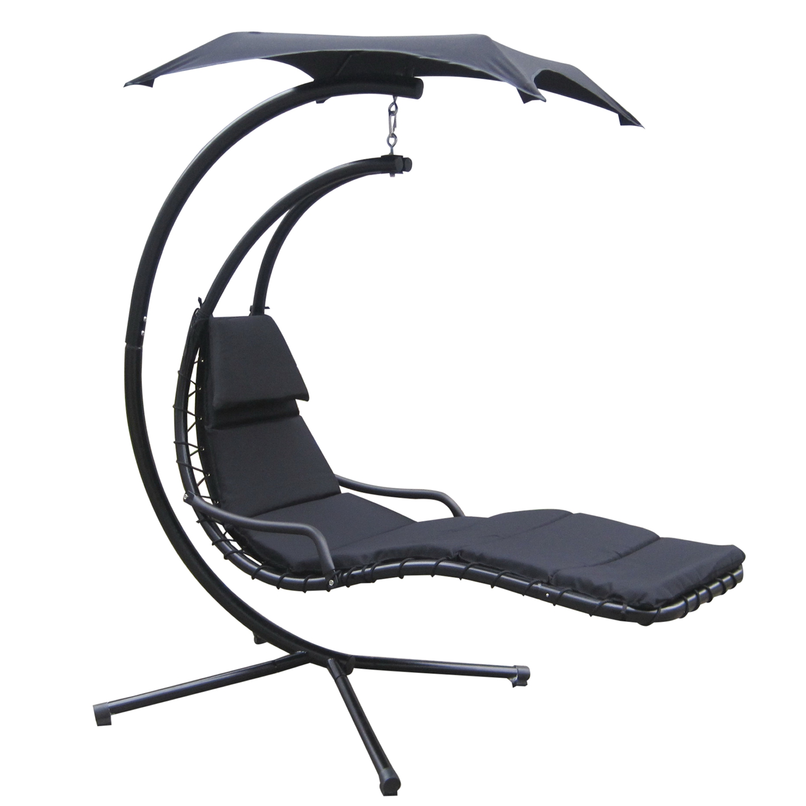FoxHunter Garden Swing Hammock Helicopter Hanging Chair Seat Sun Lounger Black | eBay