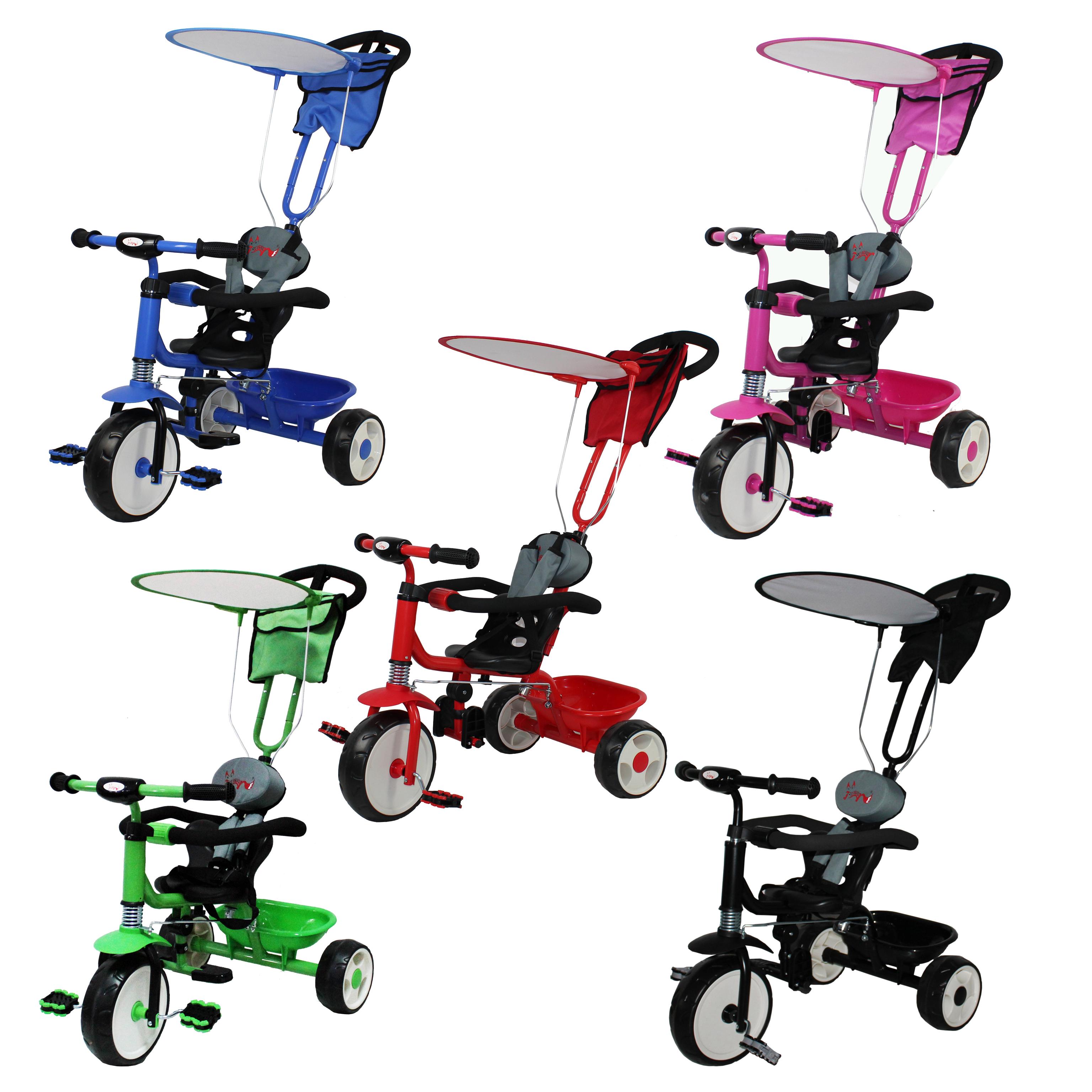 FoxHunter Kids Child Trike Tricycle 3 Wheel 4 In 1 Ride On Bike ...