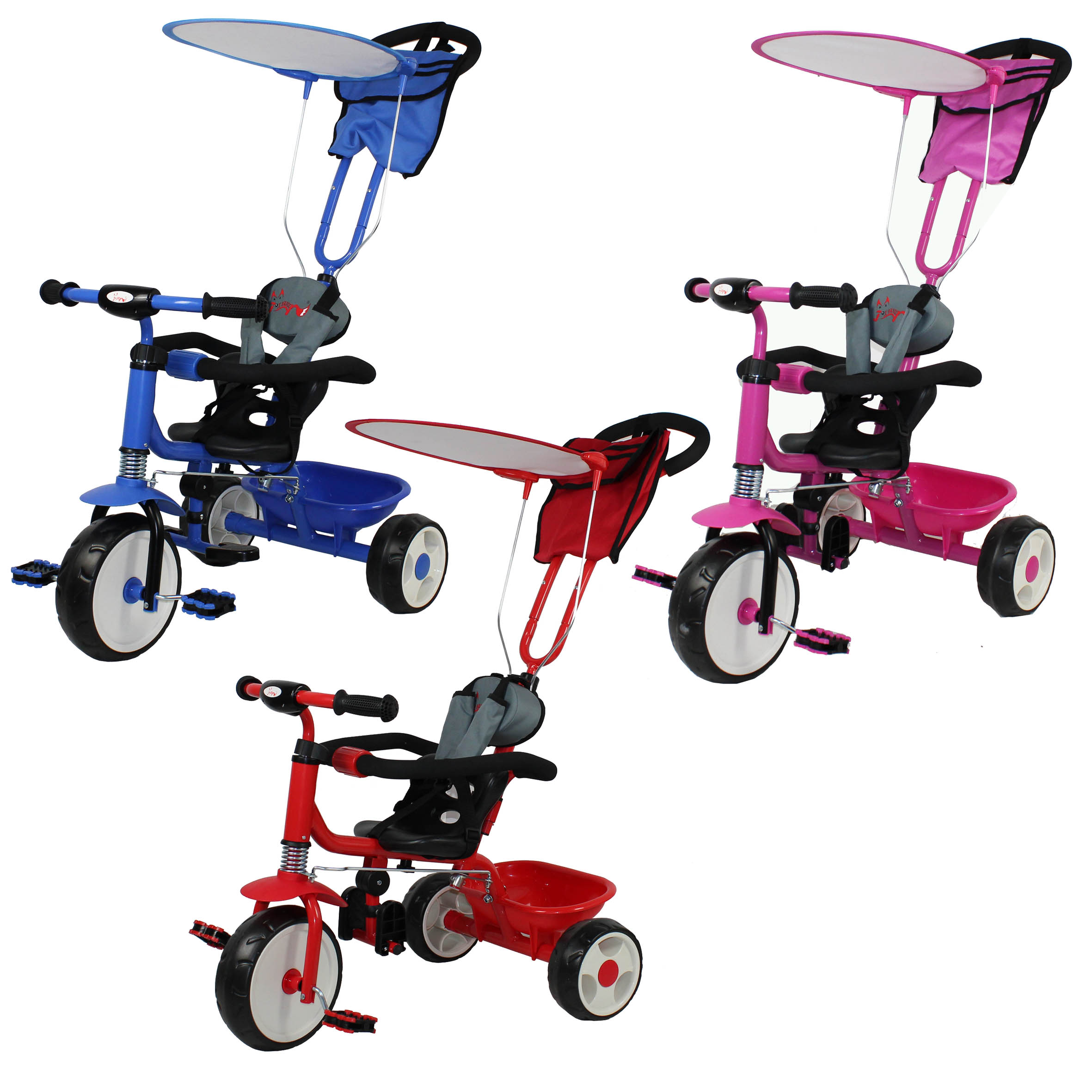 Foxhunter Kids Child Trike Tricycle 3 Wheel 4 In 1 Ride On