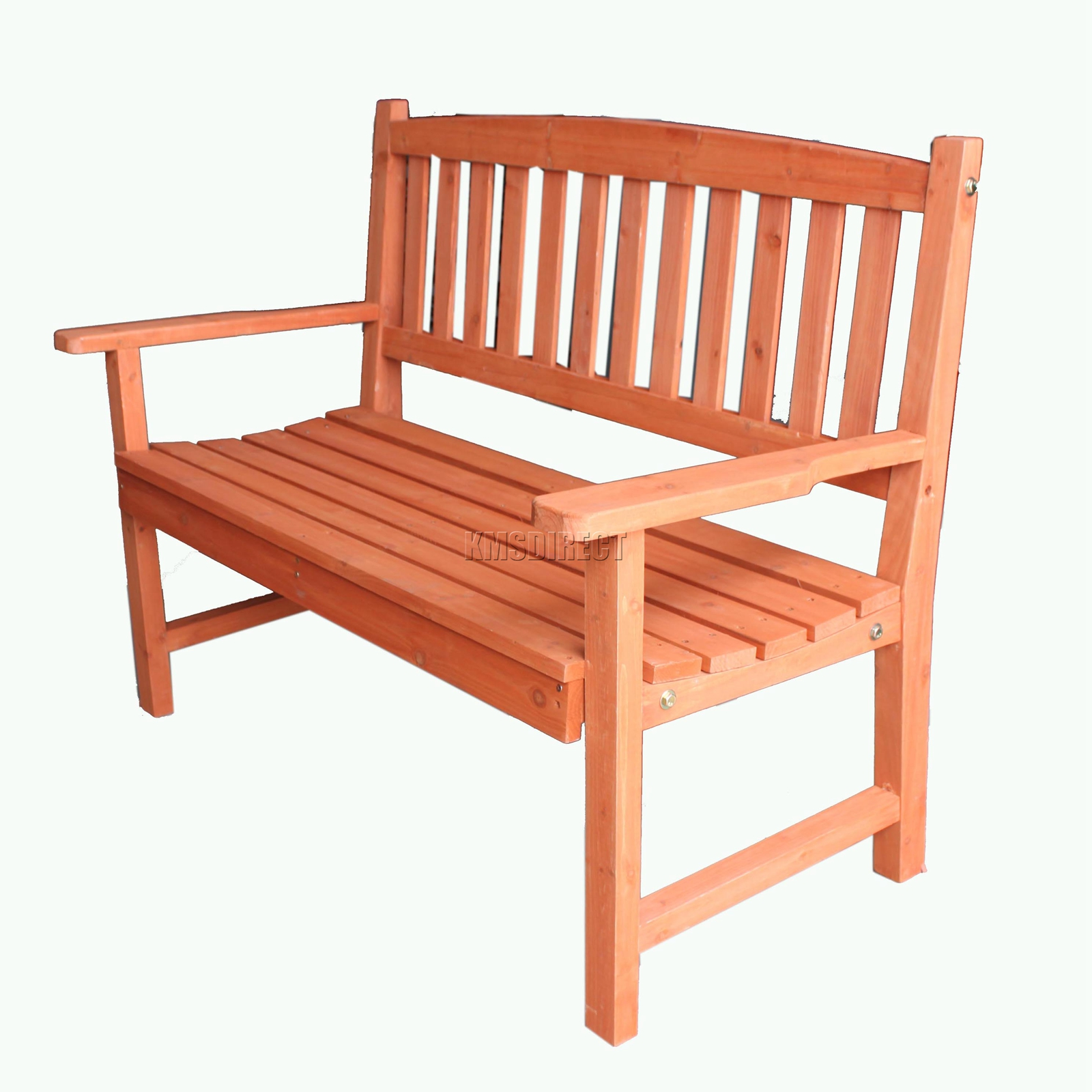 Superb img of FoxHunter Outdoor Wooden Garden Bench 2 Seat Seater Hardwood Park  with #C34F08 color and 1600x1600 pixels