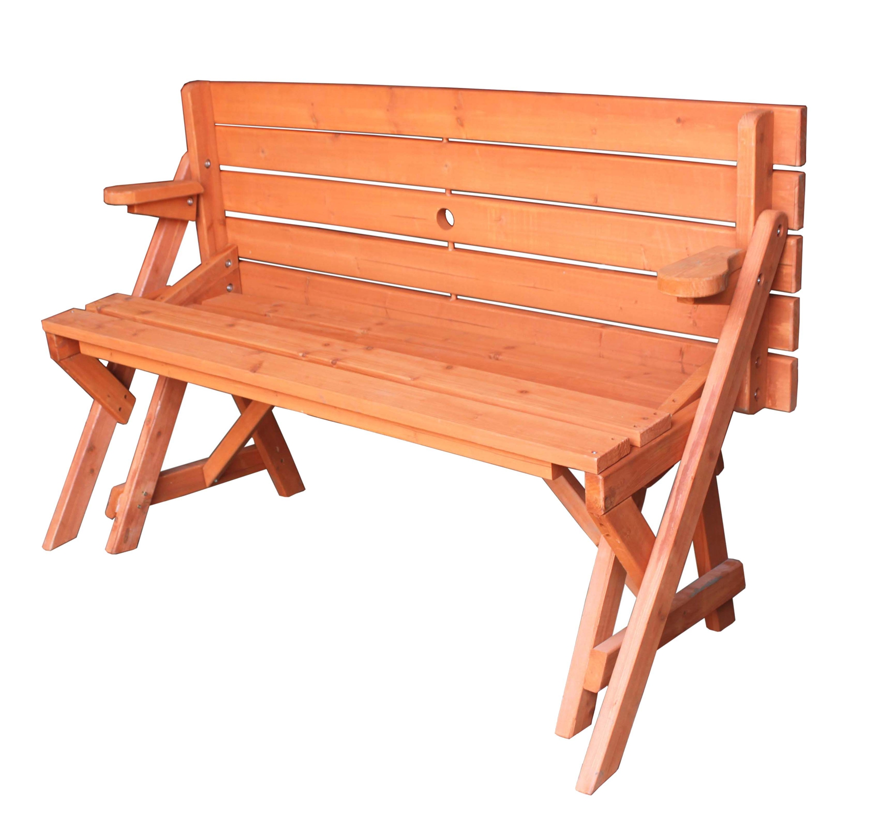 Wooden folding bench picnic garden seat table 2 in 1 - Table picnic bois enfant ...
