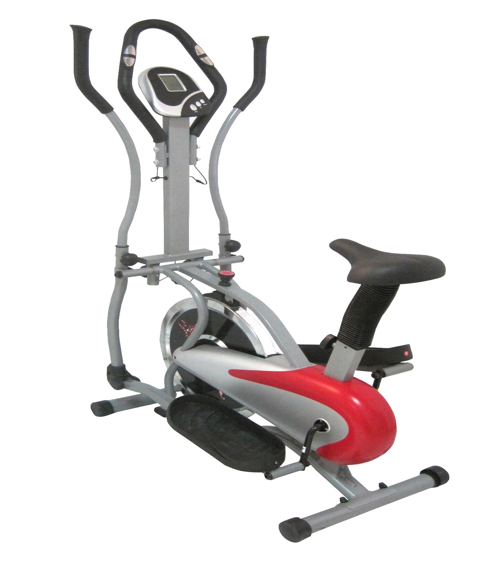 Foxhunter elliptique cross trainer v lo fitness cardio workout gym rouge - Velo elliptique cardio training ...