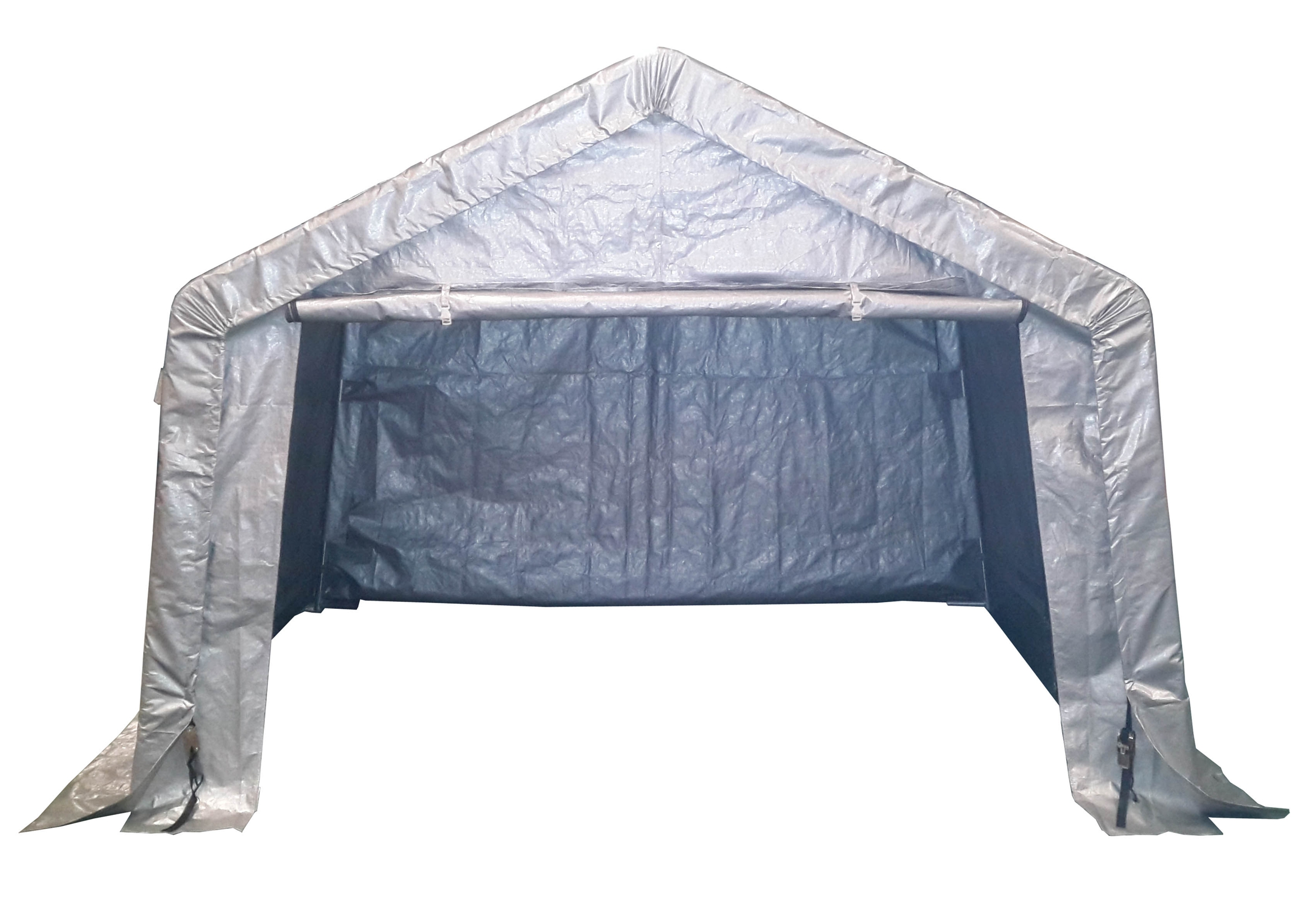 Extra grande impermeable moto plegable carpa de almacenaje for Caseta chapa galvanizada