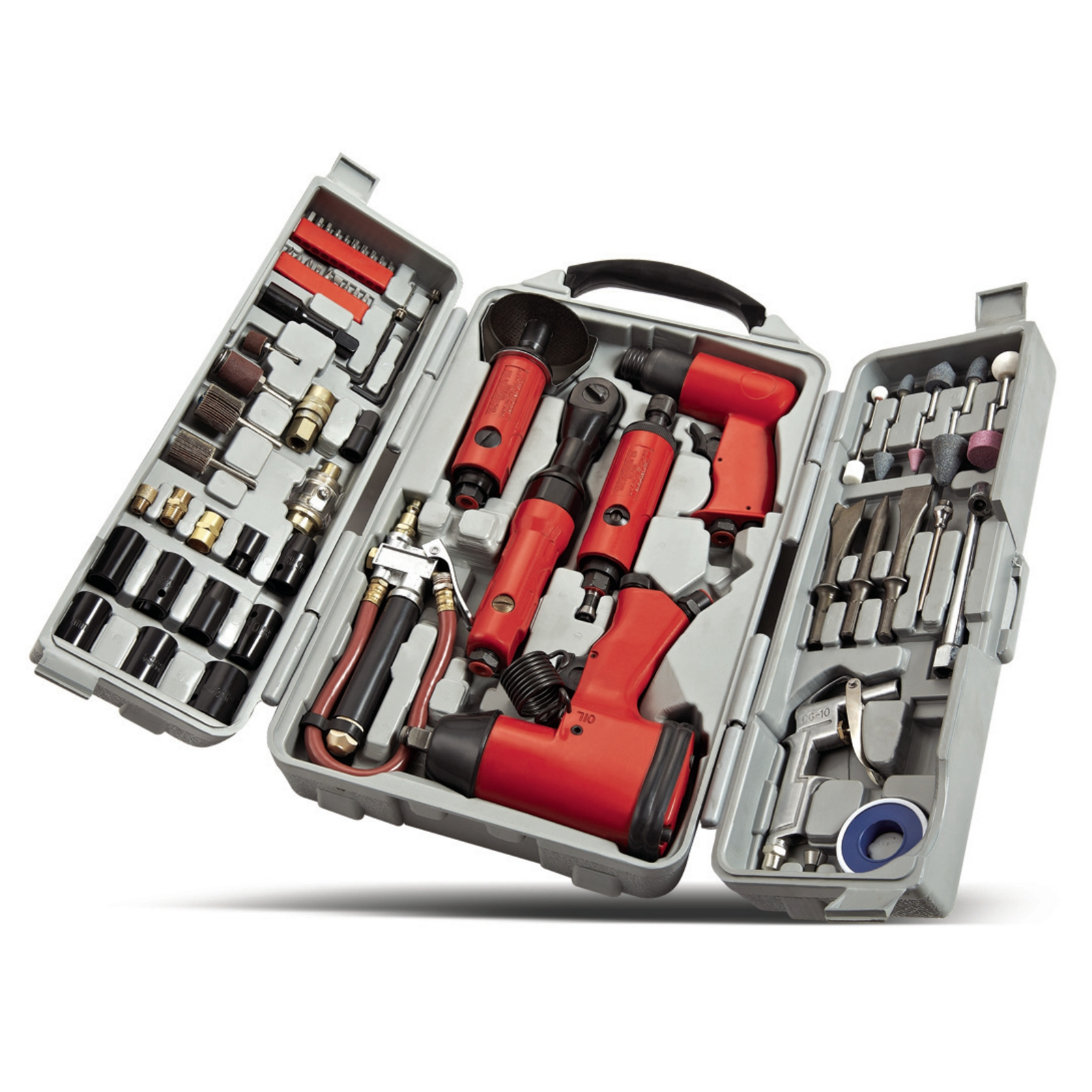 Foxhunter 77PCS Air Tool Kit Grinder Impact Wrench Die Hammer Ratchet Heavy Duty