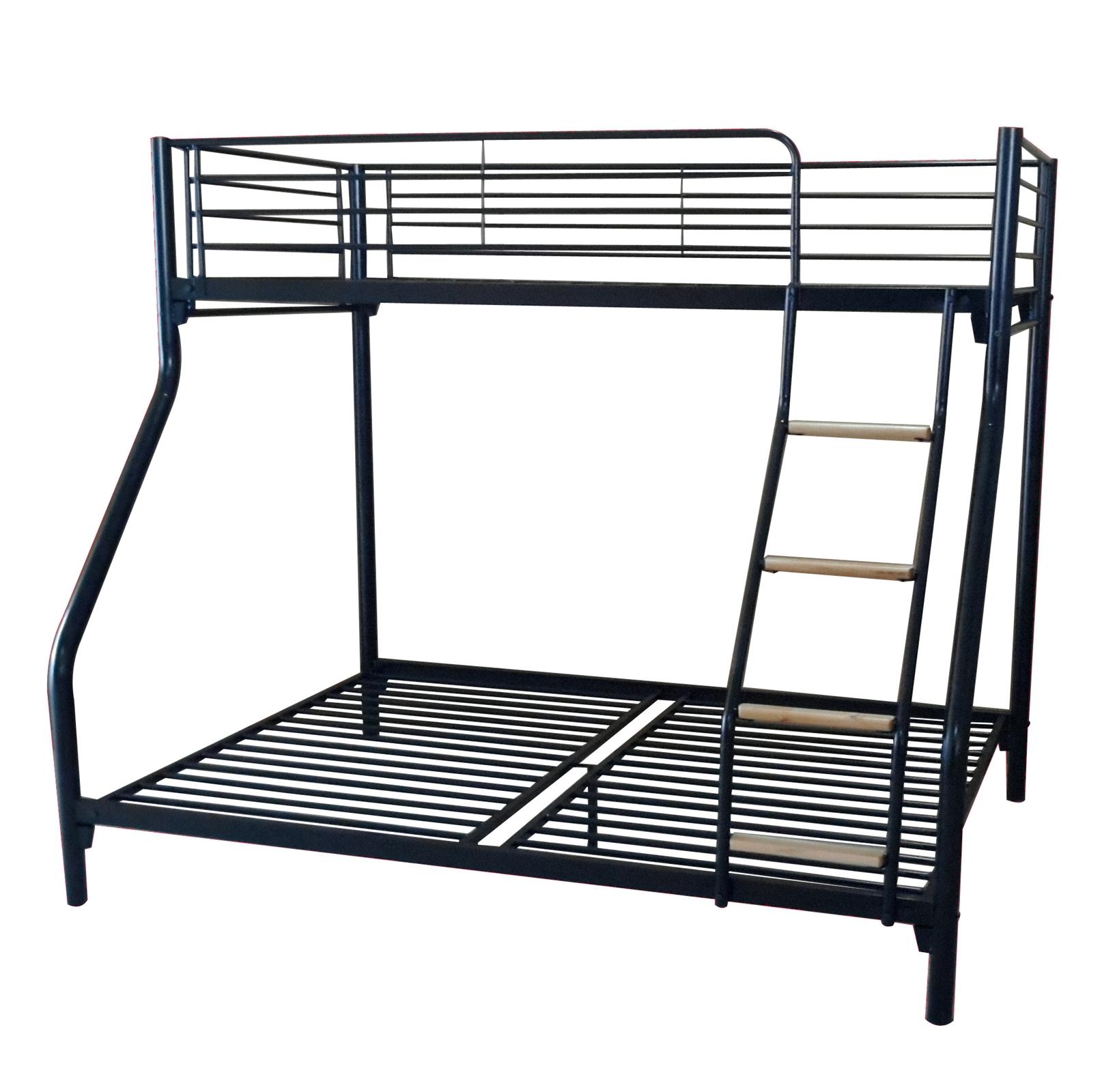 Foxhunter New Kids Triple Sleeper Bunk Bed Metal Frame No Mattress Wood Ladder