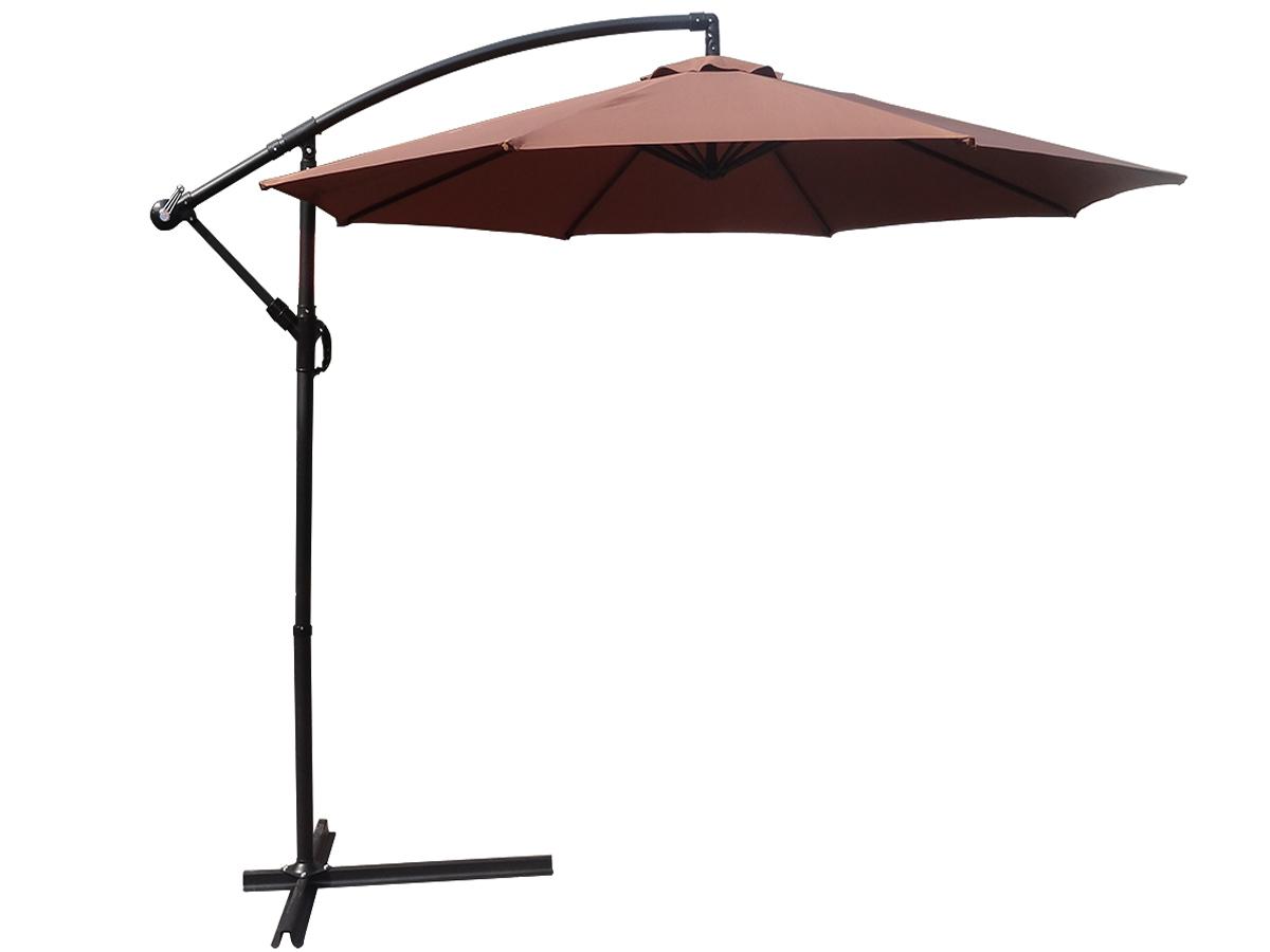 foxhunter 3m garden parasol patio sun shade banana hanging crank umbrella coffee. Black Bedroom Furniture Sets. Home Design Ideas