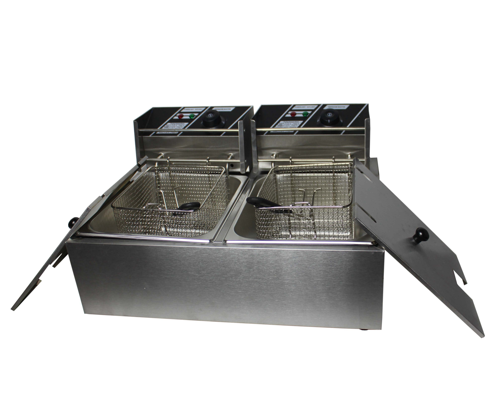 Electric Deep Fryer : Foxhunter l stainless steel twin basket electric deep