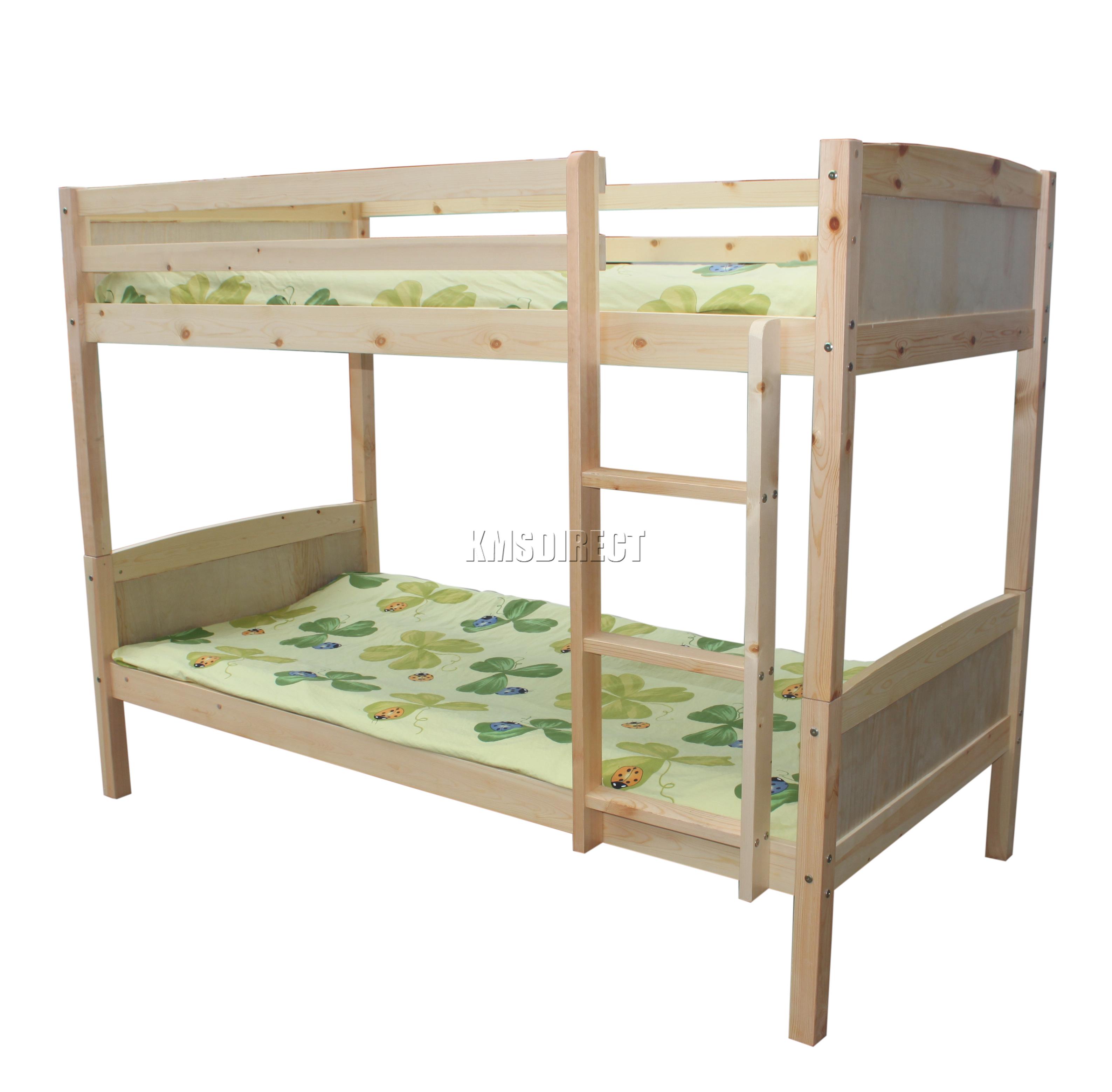Foxhunter new 3ft wooden frame bunk bed children sleeper for Single bunk bed frame